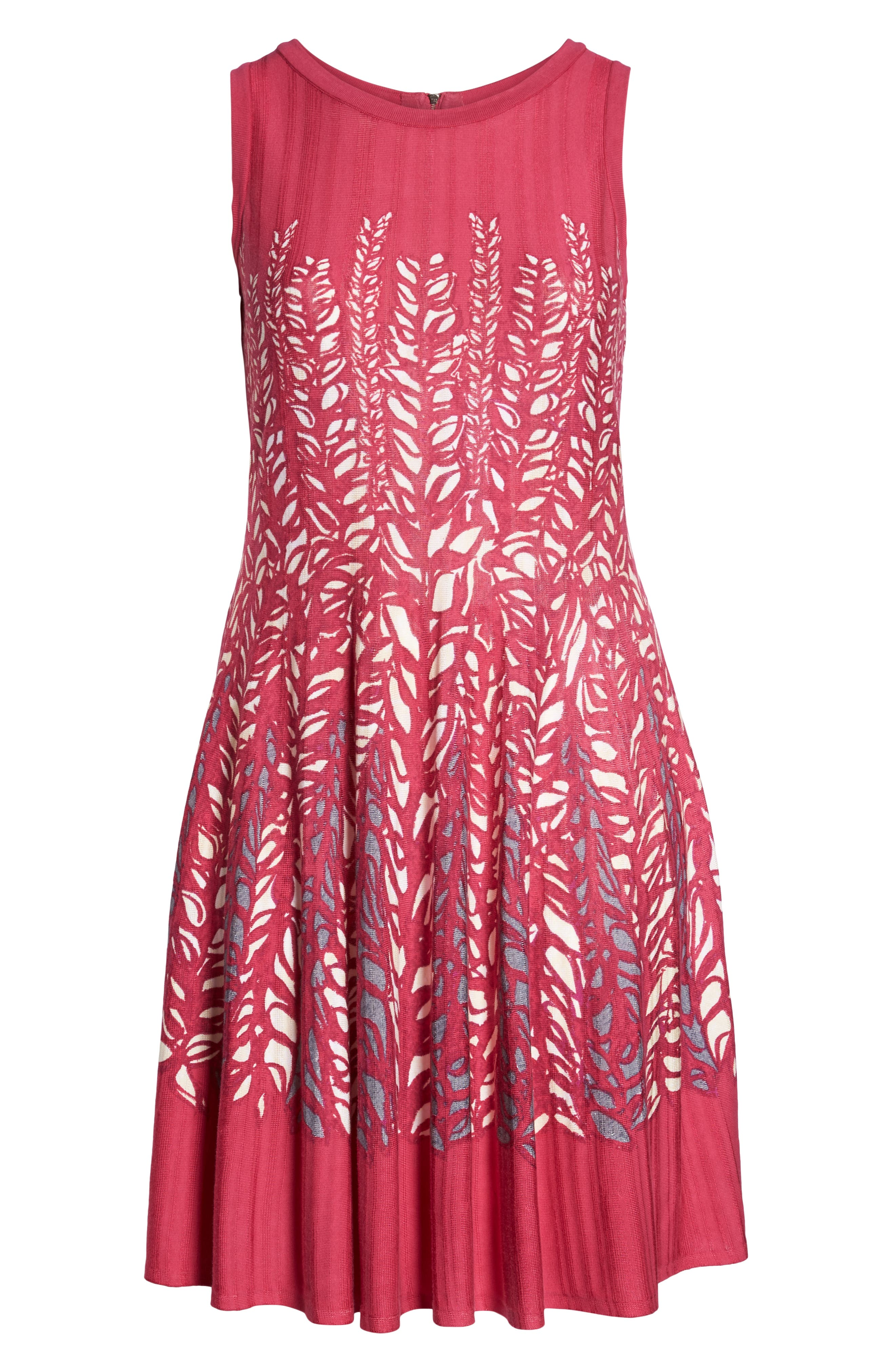 Tango Twirl Fit & Flare Knit Dress,                             Alternate thumbnail 7, color,                             Multi