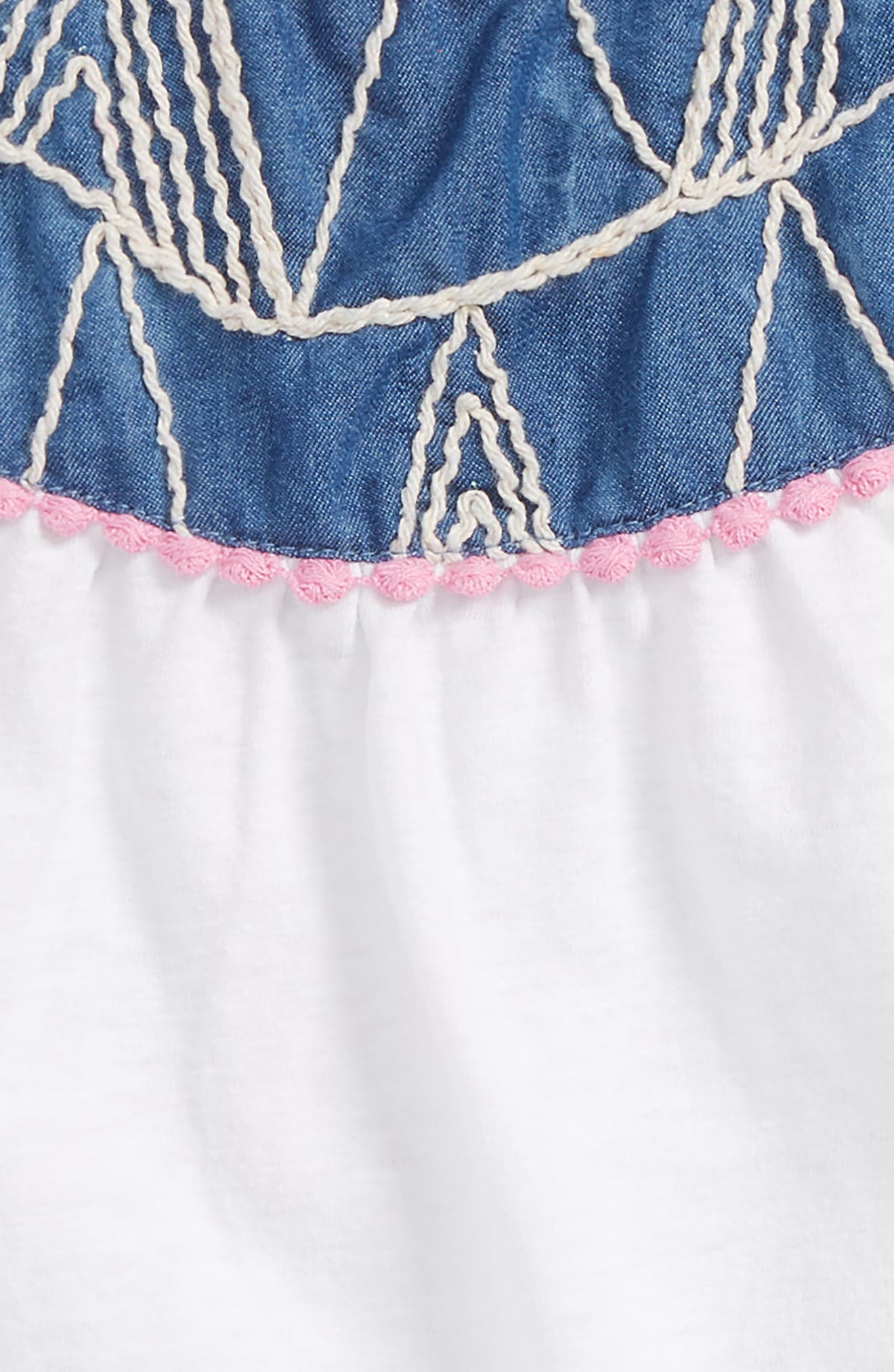 Alternate Image 2  - Mikki Miette Alma Embroidered Tank (Toddler Girls & Little Girls)