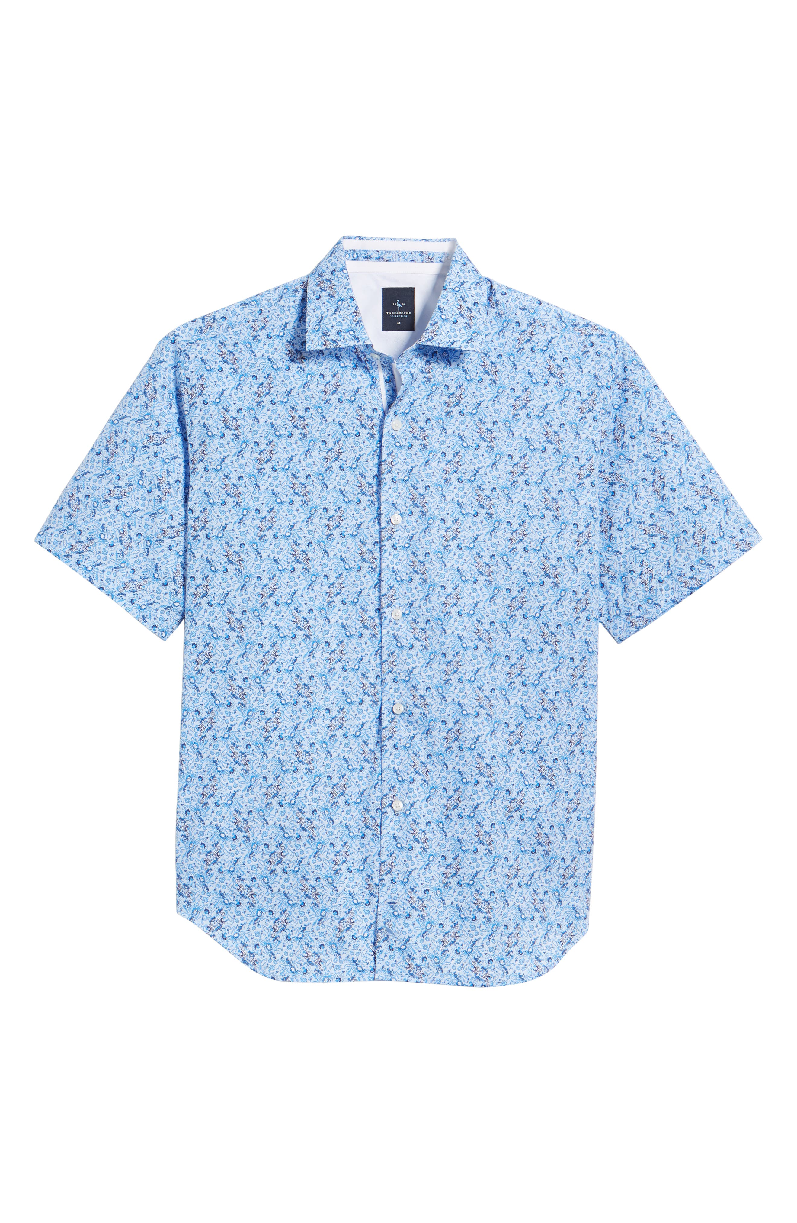 Alaric Regular Fit Print Sport Shirt,                             Alternate thumbnail 6, color,                             Blue
