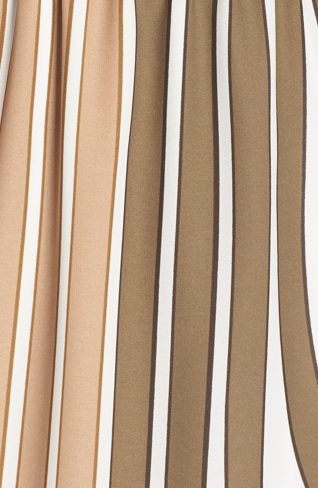 Blouson Midi Dress,                             Alternate thumbnail 6, color,                             Olive Multi