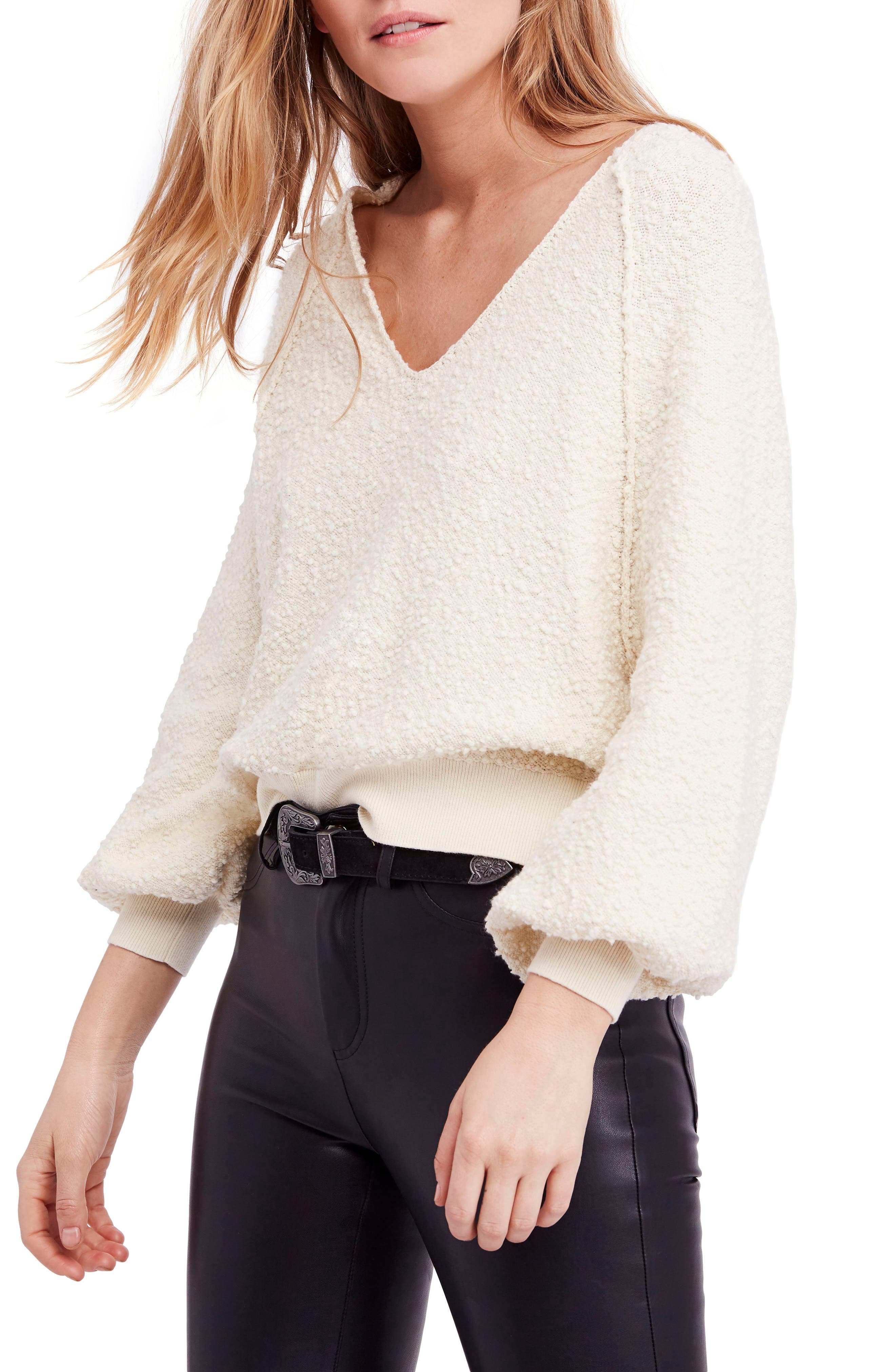 Found My Friend Sweater,                         Main,                         color, Cream