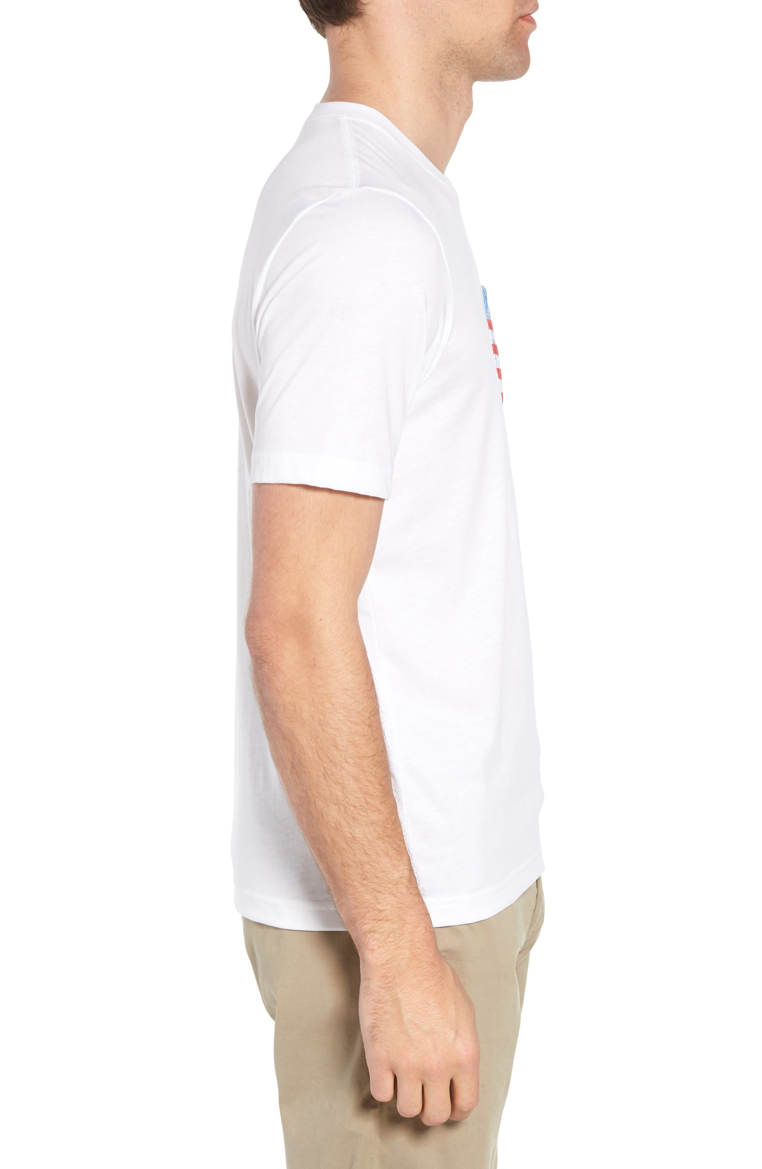 Chocolate Barrels Crewneck T-Shirt,                             Alternate thumbnail 3, color,                             White