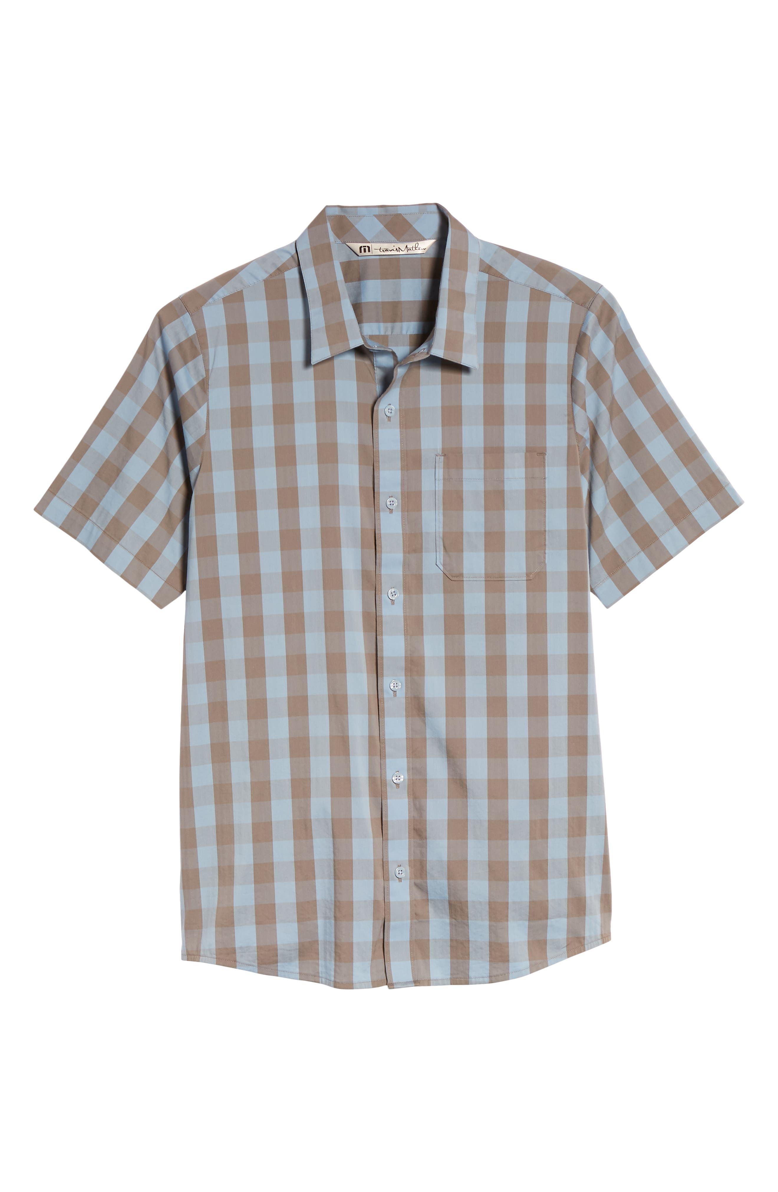 Hunter Check Performance Sport Shirt,                             Alternate thumbnail 6, color,                             Allure
