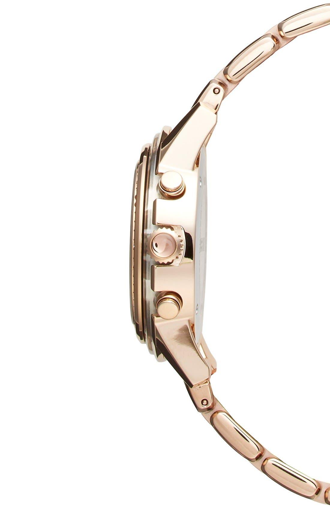 Alternate Image 3  - Breil 'Orchestra' Crystal Bezel Chronograph Bracelet Watch, 37mm