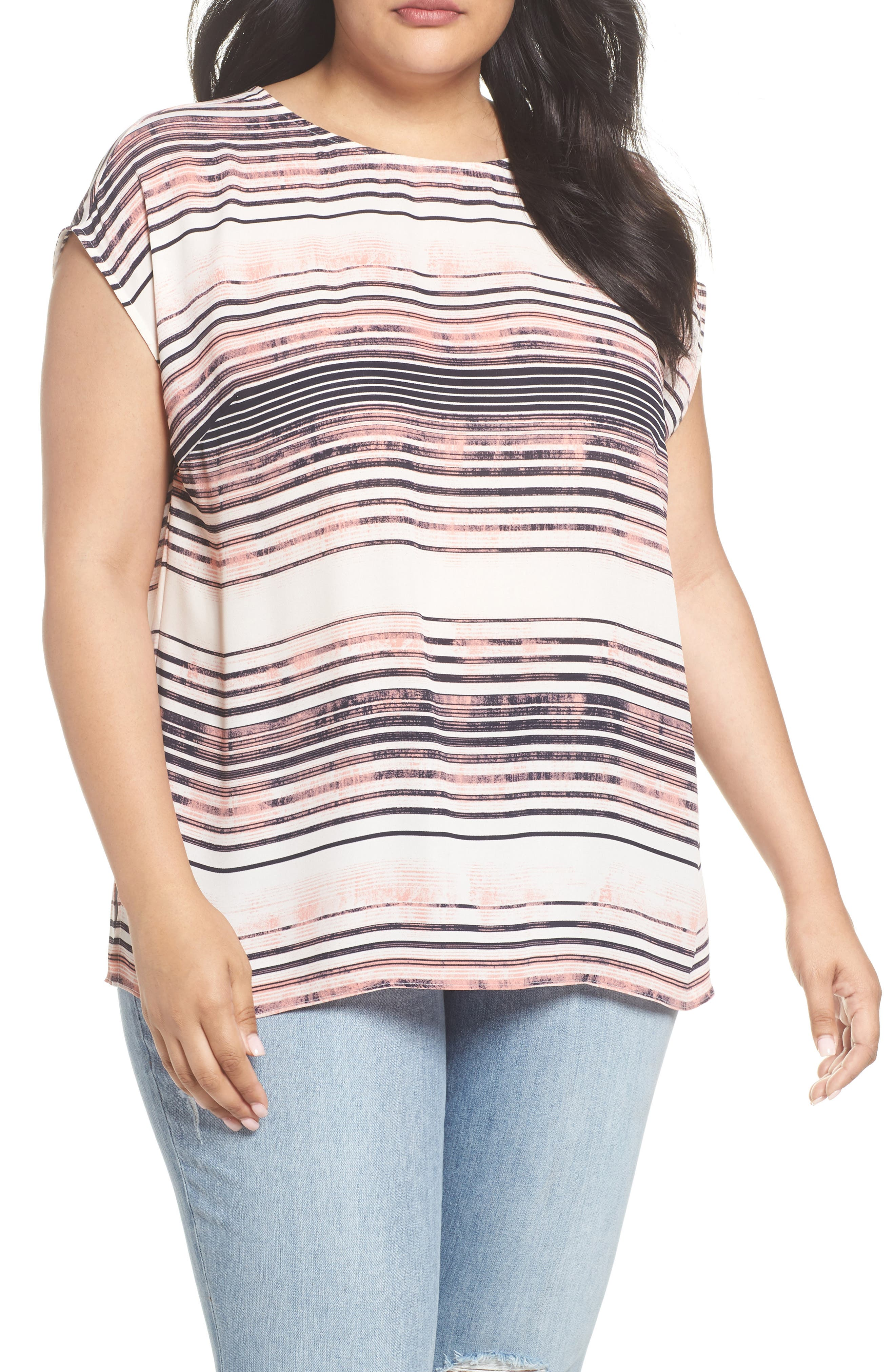 Ancient Muses Stripe Top,                         Main,                         color, Rich Cream