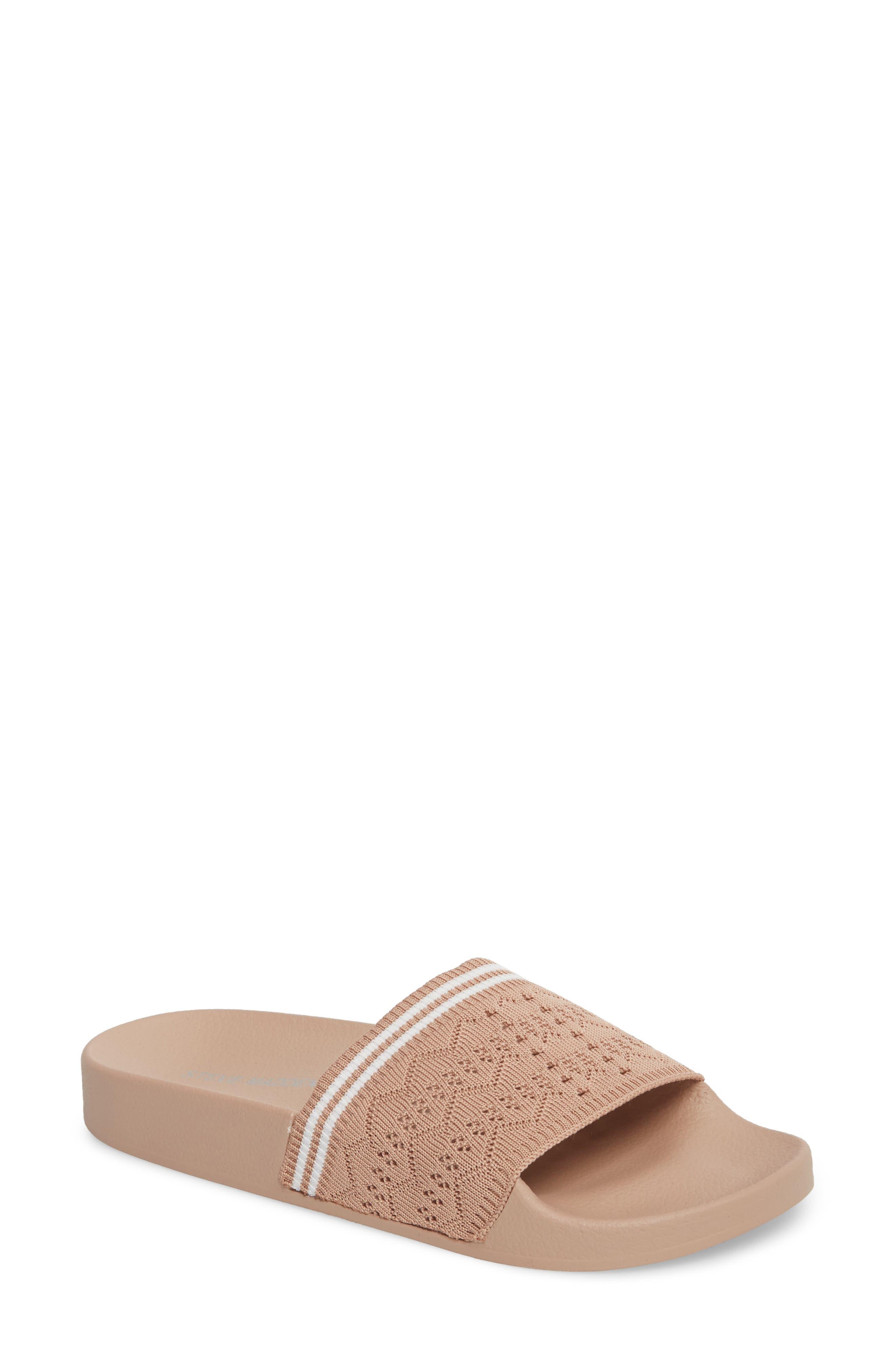 Vibe Sock Knit Slide Sandal,                             Main thumbnail 1, color,                             Blush
