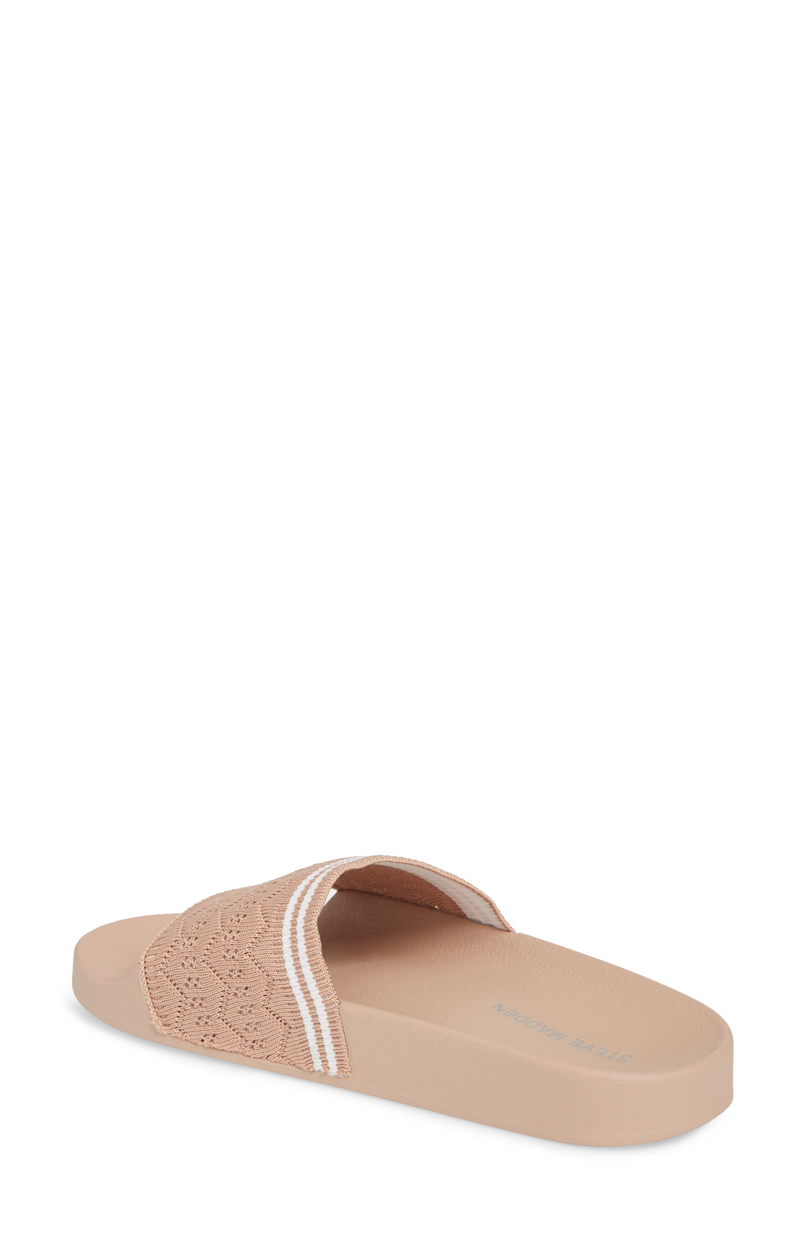 Vibe Sock Knit Slide Sandal,                             Alternate thumbnail 2, color,                             Blush