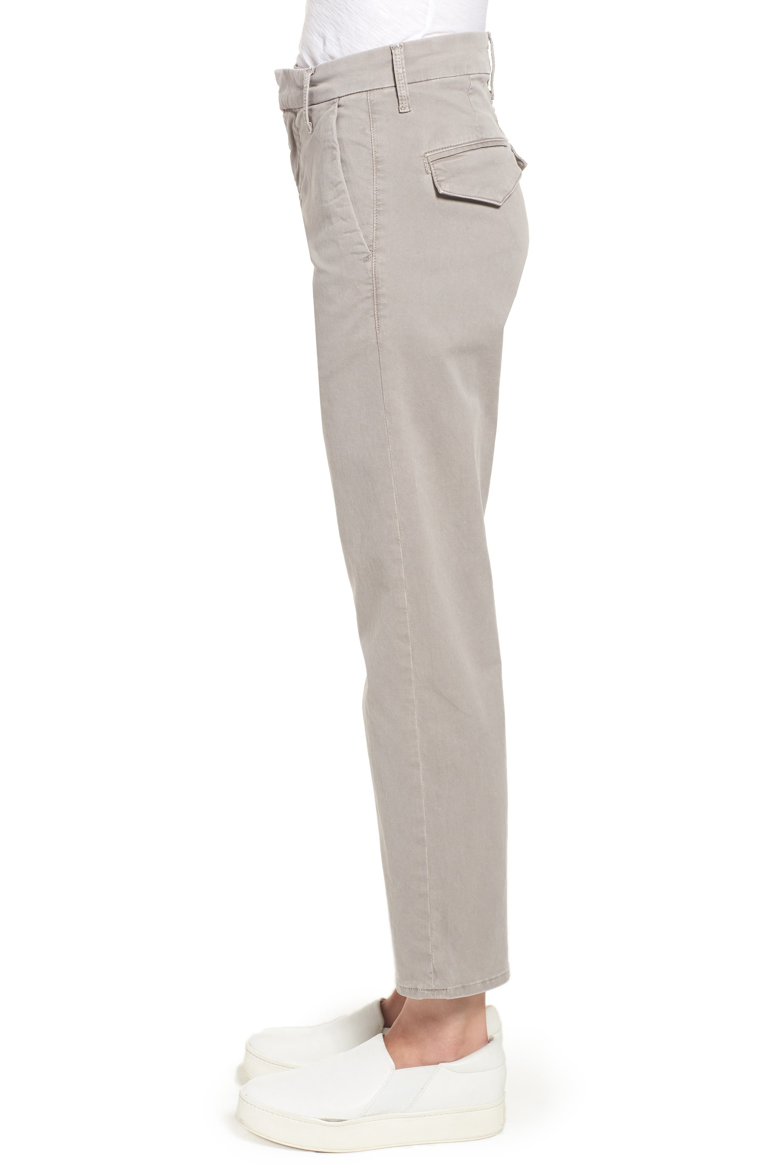 The Tomcat Prep Crop Twill Pants,                             Alternate thumbnail 3, color,                             Cement
