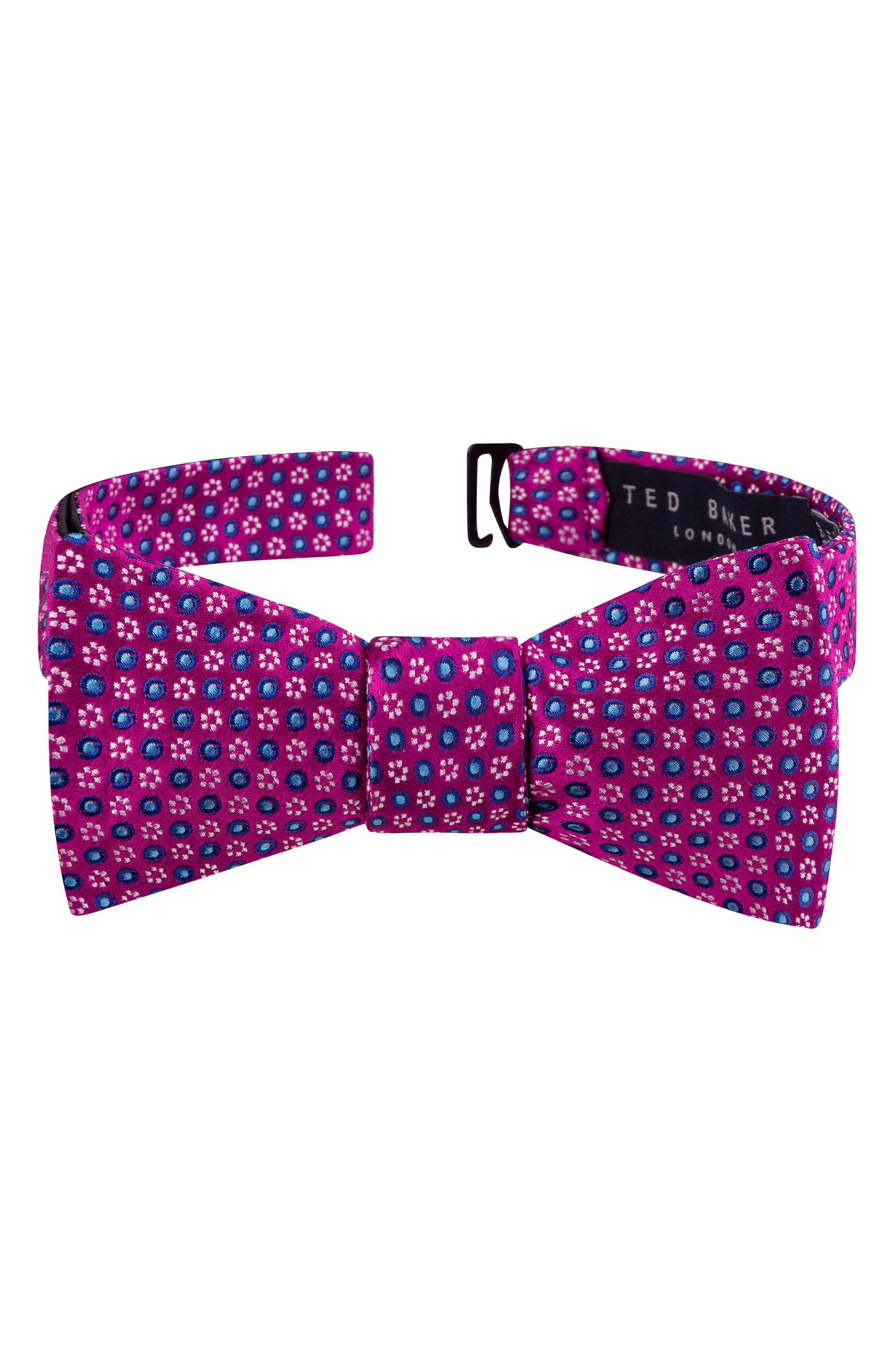 Ted Baker London Grid Silk Bow Tie