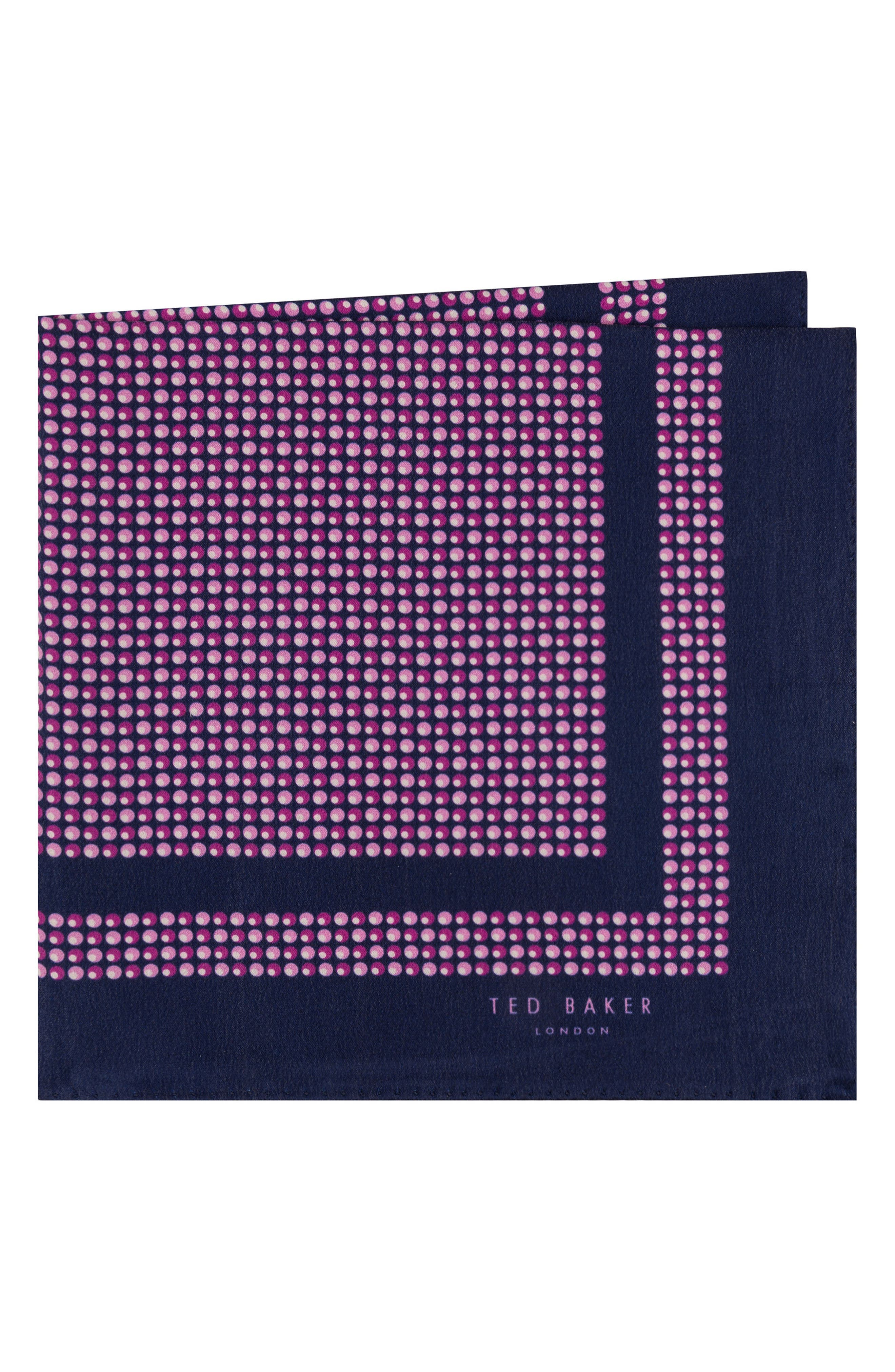 Ted Baker London Micro Dot Silk Pocket Square