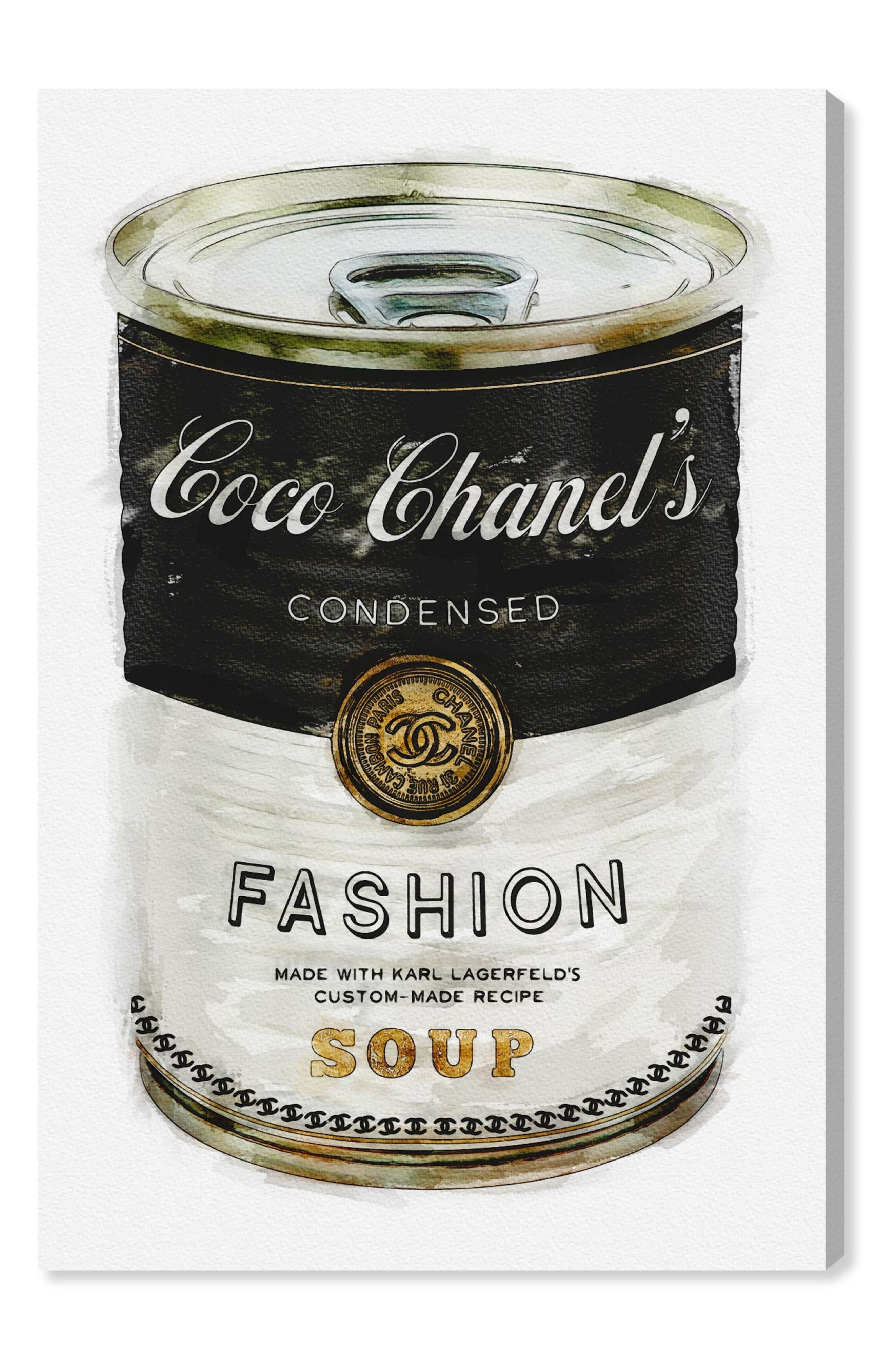 Main Image - Oliver Gal Fashion Soup Canvas Wall Art