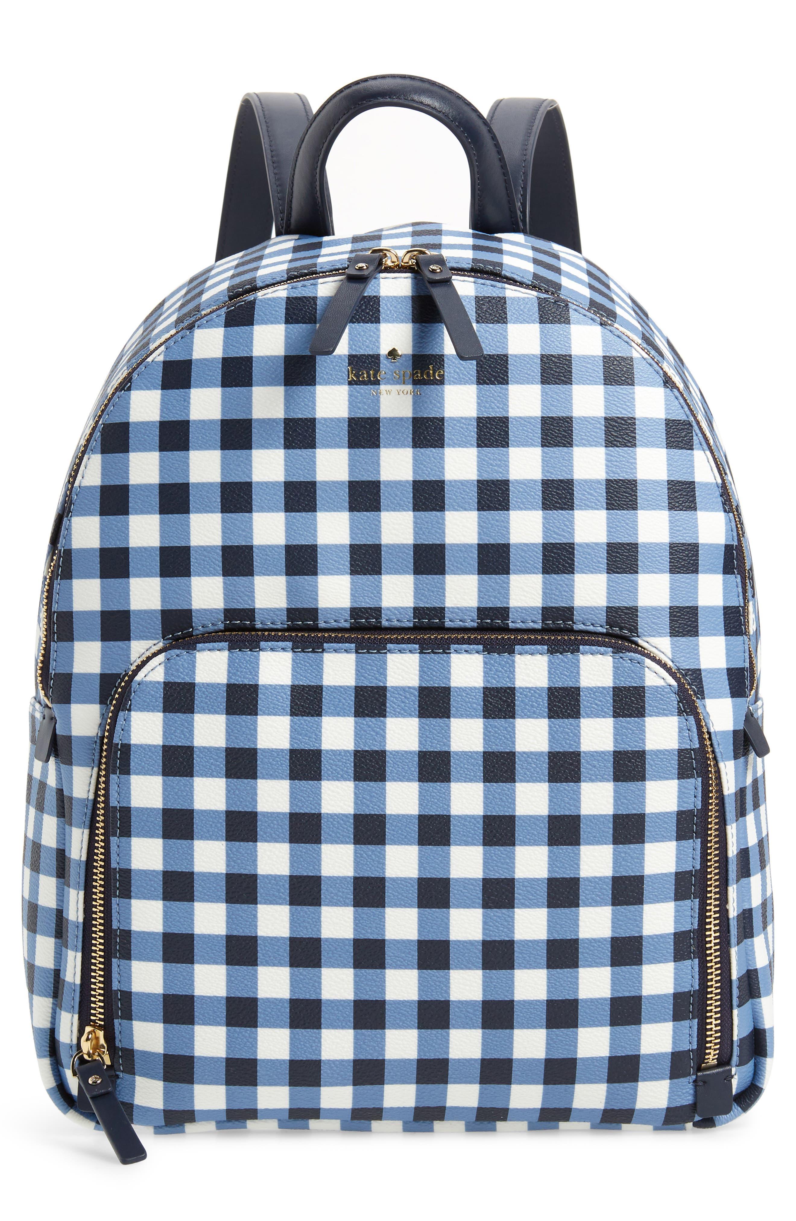 hyde lane hartley gingham backpack,                             Main thumbnail 1, color,                             Navy/ White