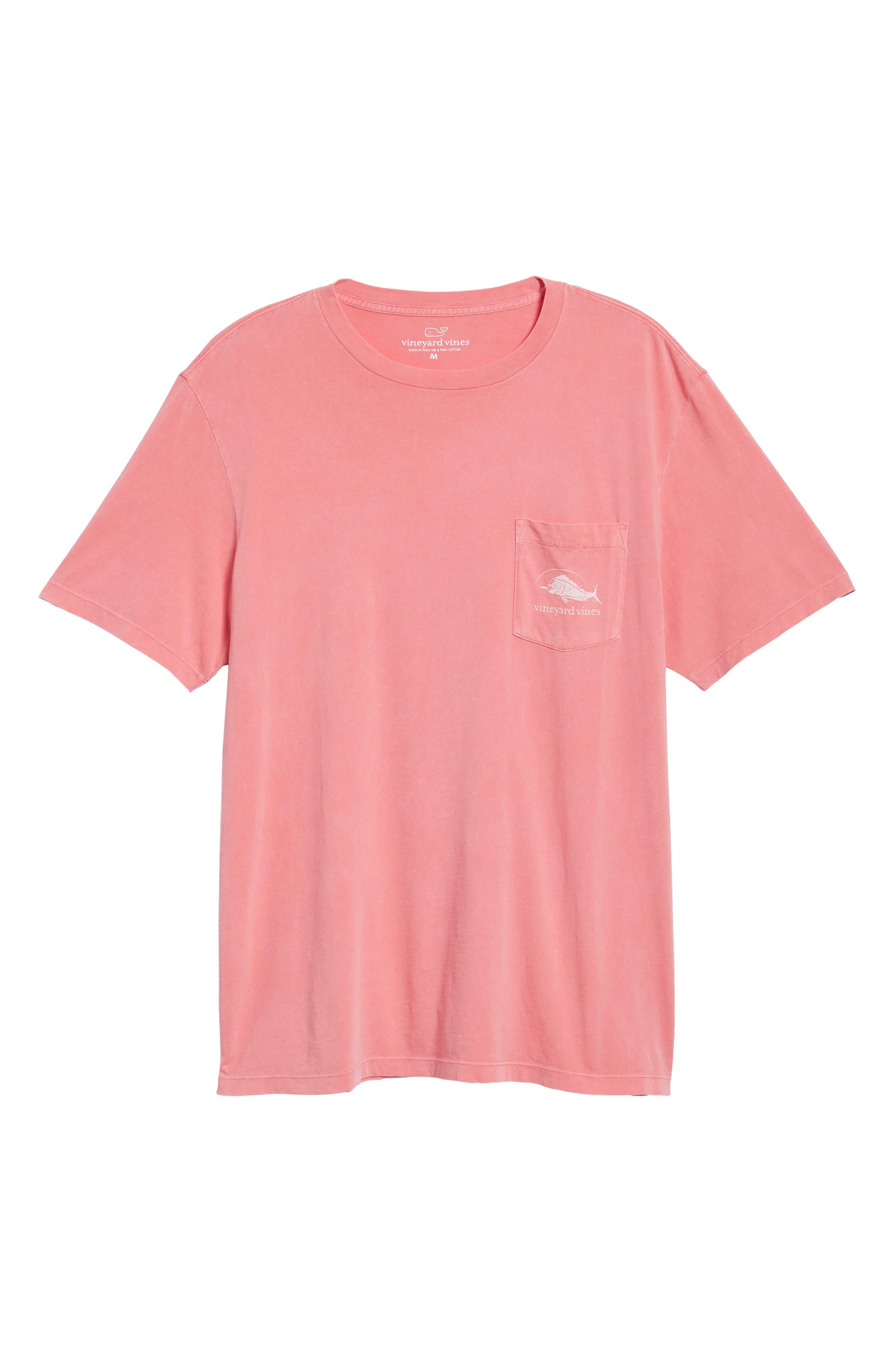 Vintage Mahi Regular Fit Crewneck T-Shirt,                             Alternate thumbnail 6, color,                             Jetty Red