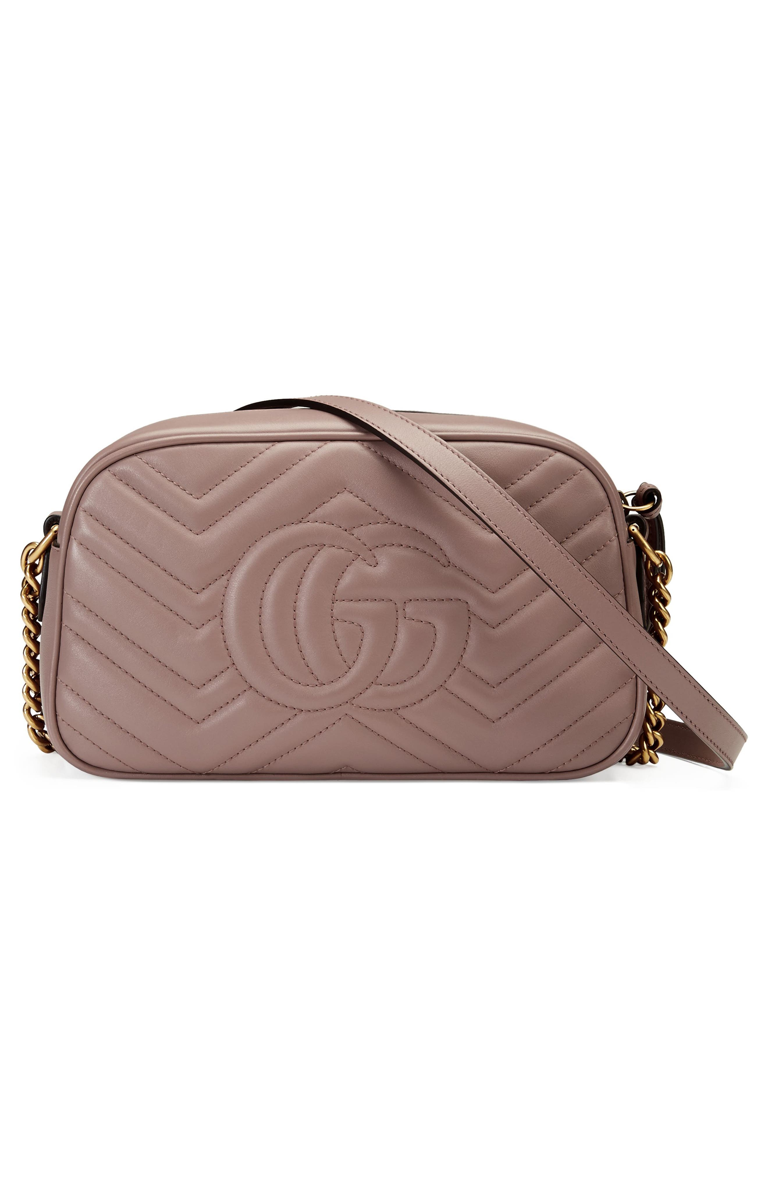 Small GG Marmont 2.0 Matelassé Leather Camera Bag,                             Alternate thumbnail 2, color,                             Porcelain Rose/ Porcelain Rose