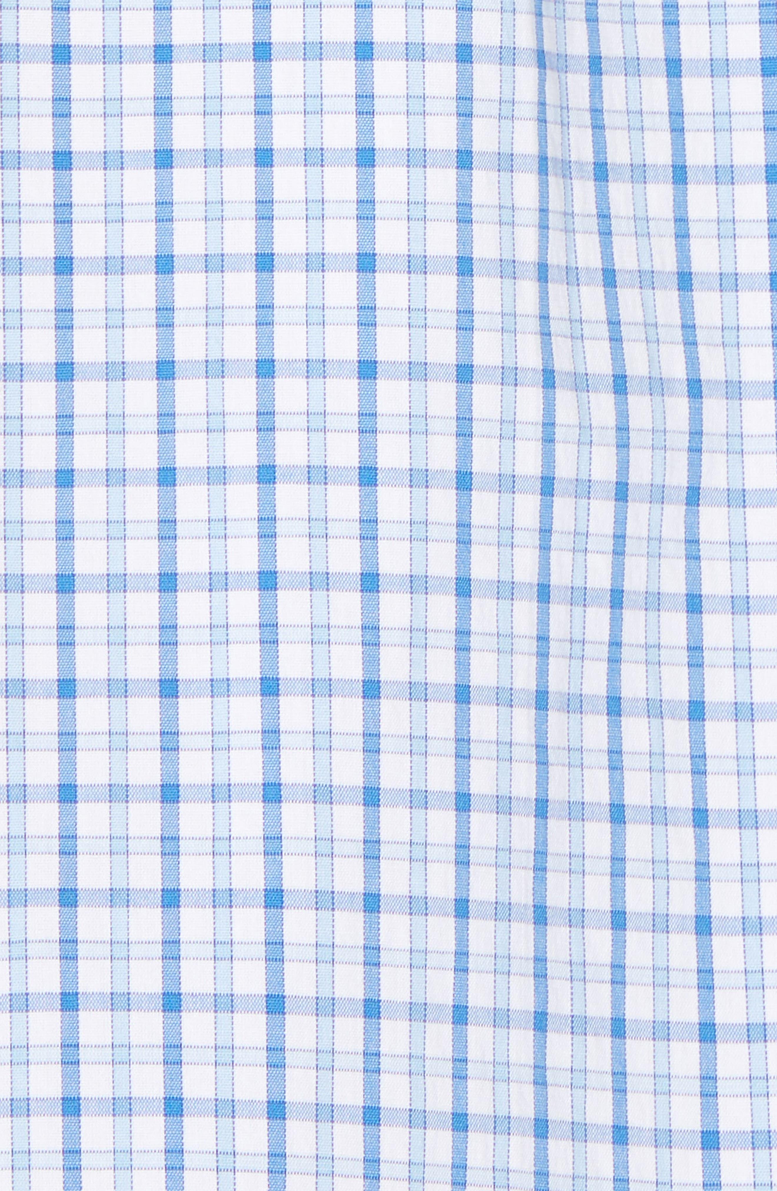Clark Cove Tucker Classic Fit Check Sport Shirt,                             Alternate thumbnail 5, color,                             Jake Blue