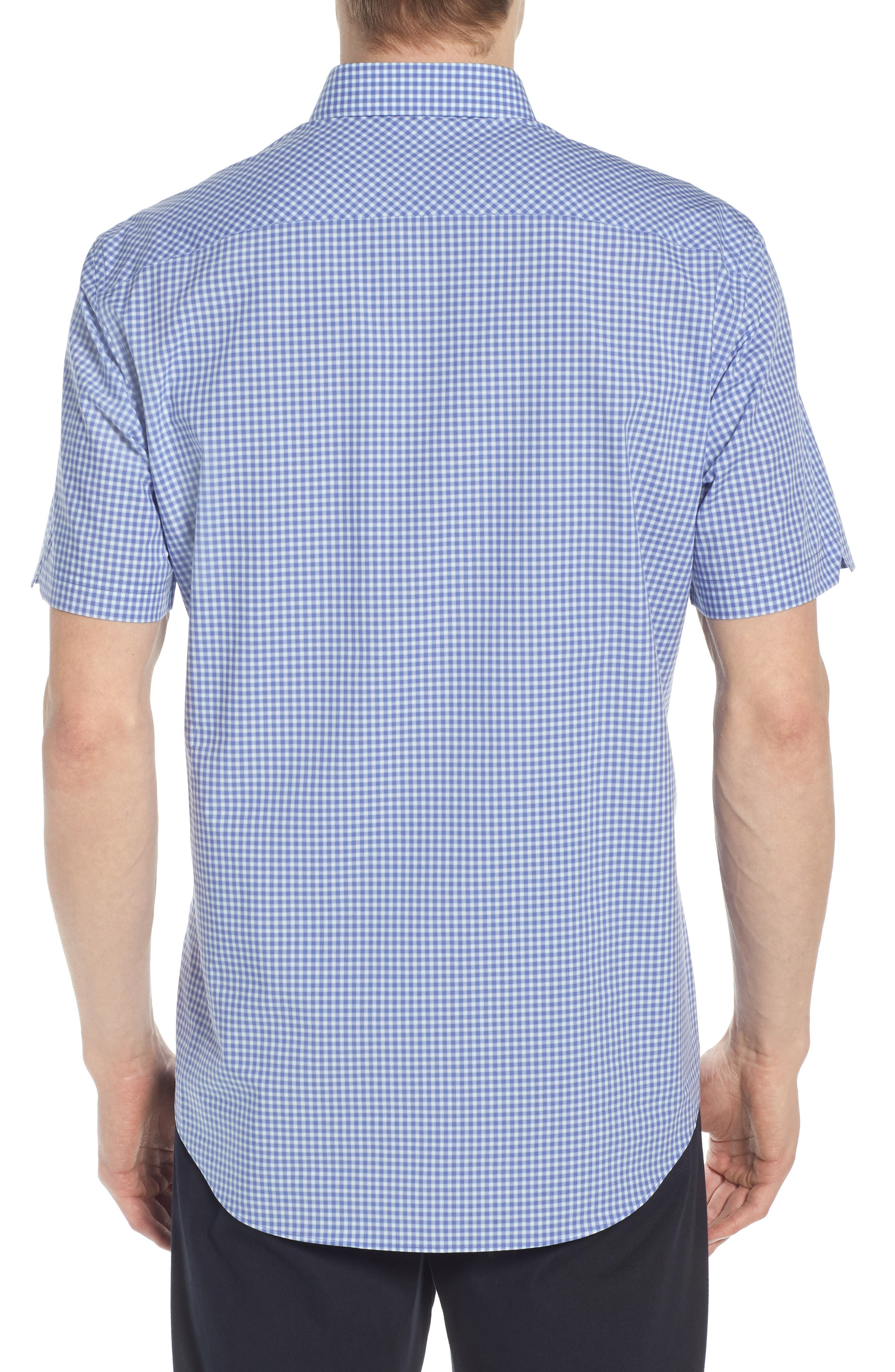 Giovinco Plaid Sport Shirt,                             Alternate thumbnail 3, color,                             Ocean