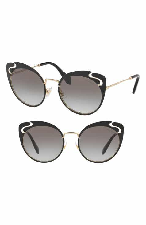 2f9bc8128c3e Miu Miu Noir Evolution 54mm Cat Eye Sunglasses