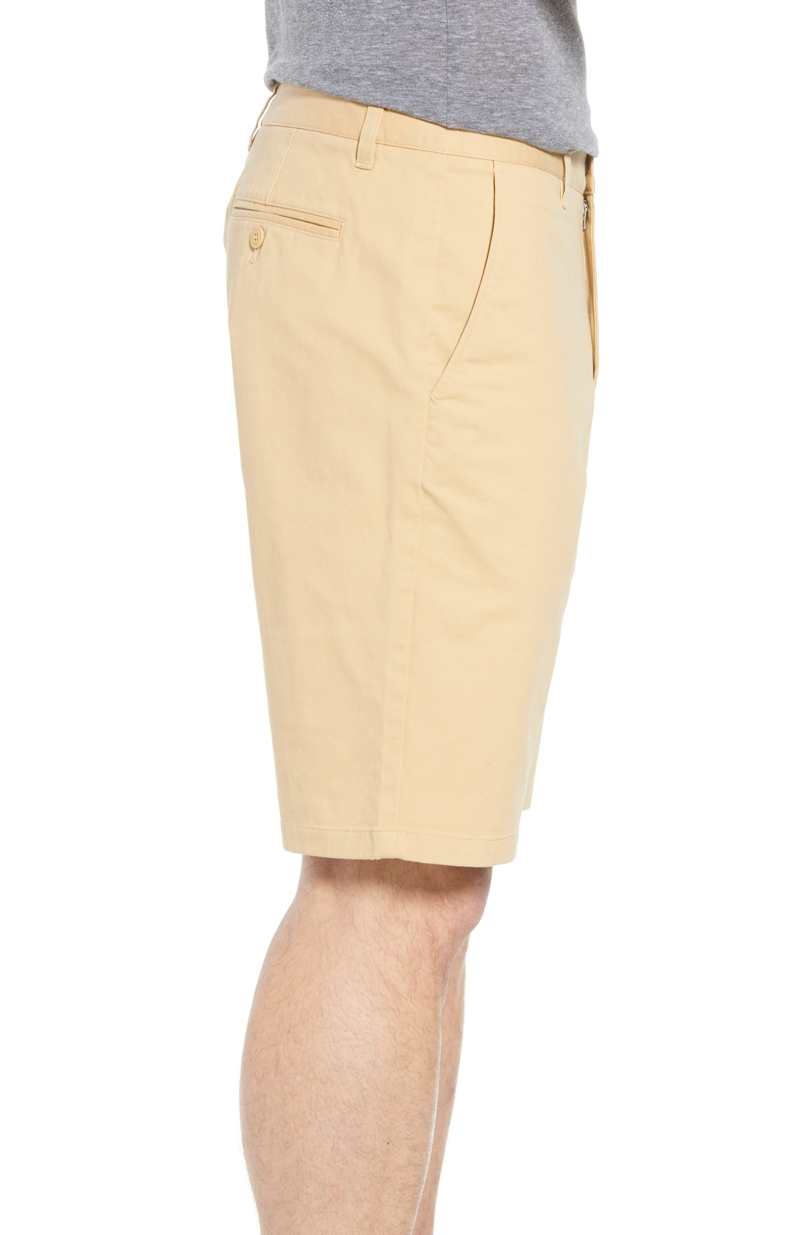 Stretch Washed Chino 11-Inch Shorts,                             Alternate thumbnail 3, color,                             Gold Khaki