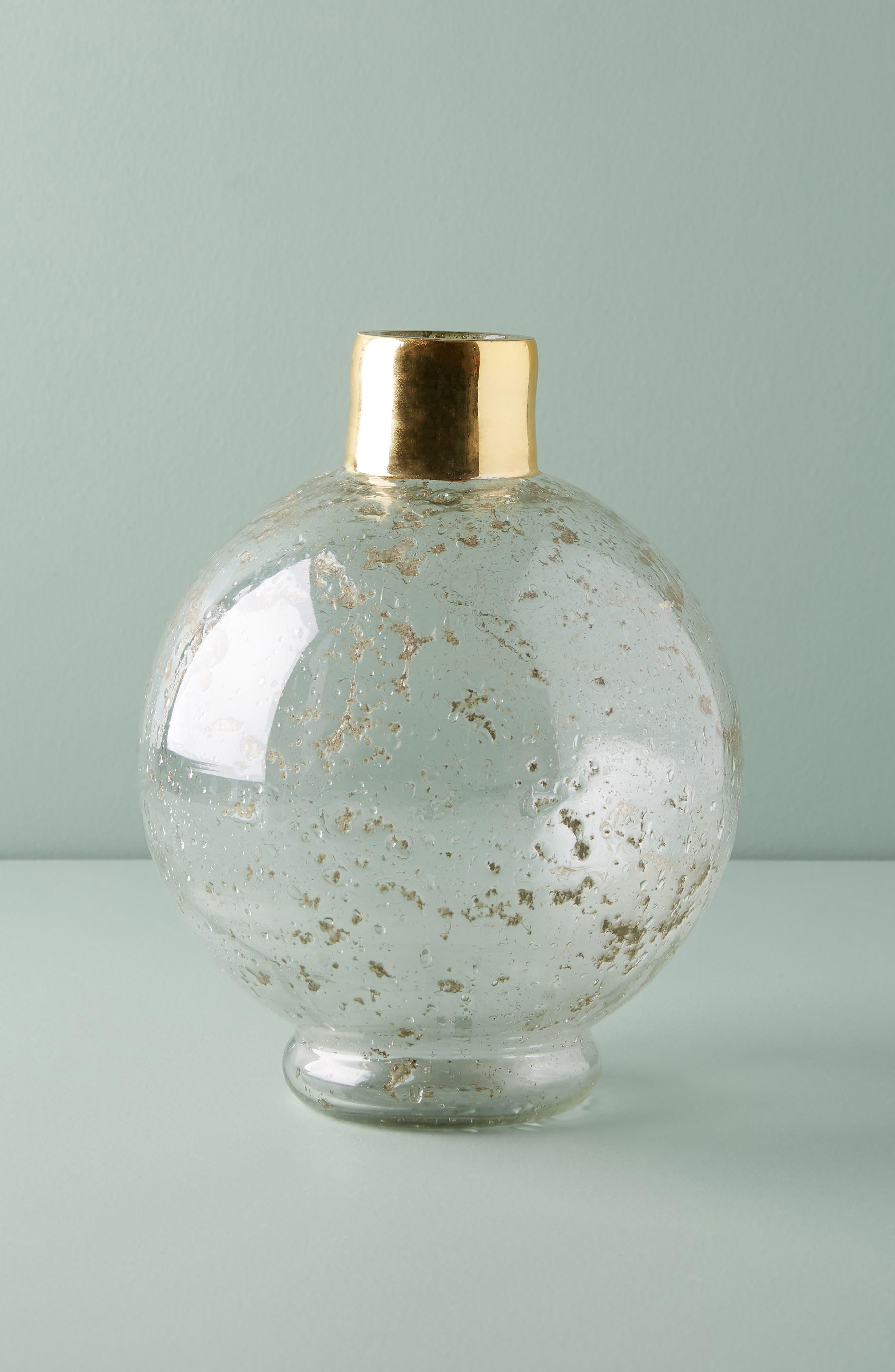 Alternate Image 1 Selected - Anthropologie Gilded Round Vase