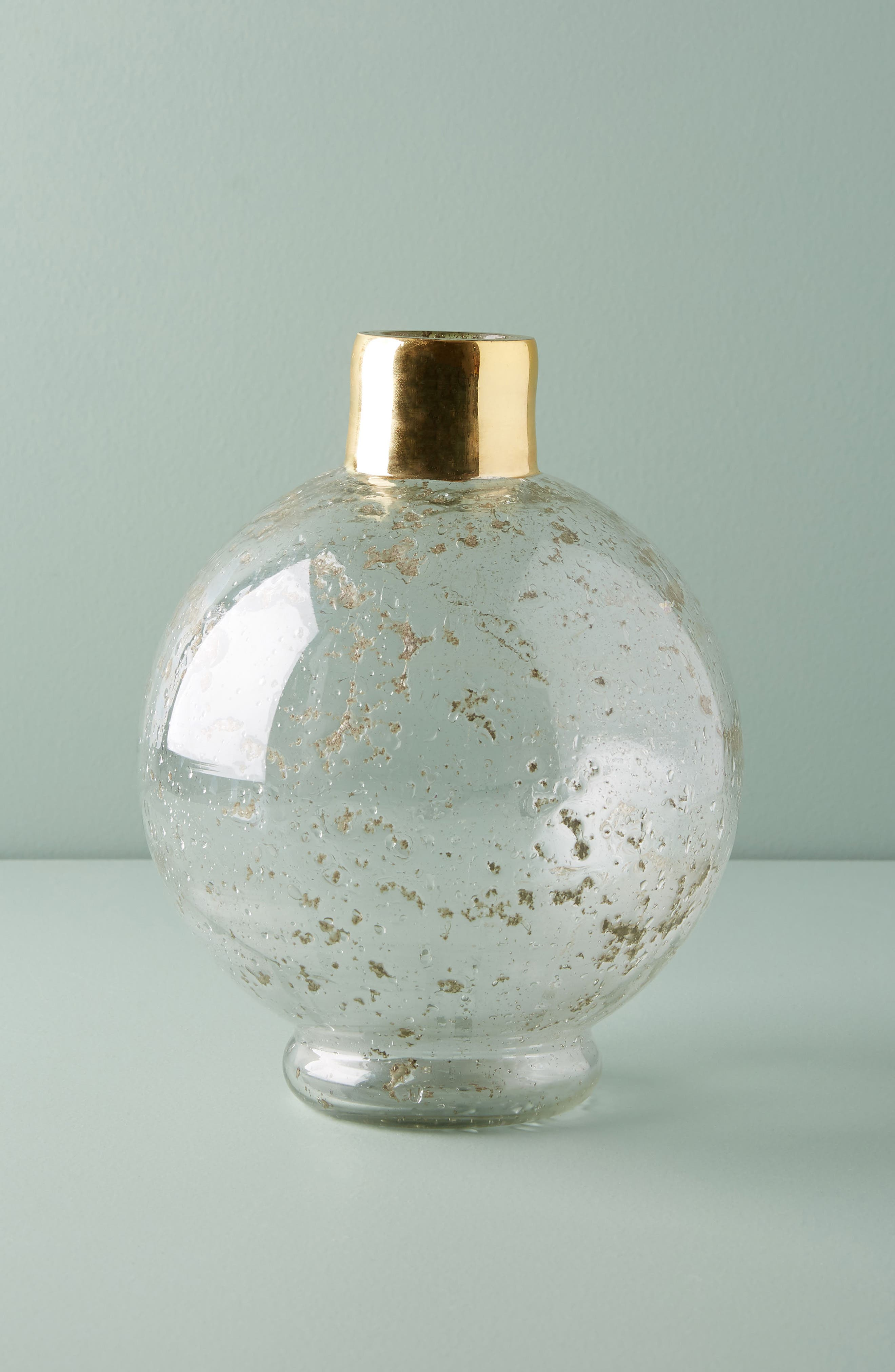Gilded Round Vase,                         Main,                         color, Gold