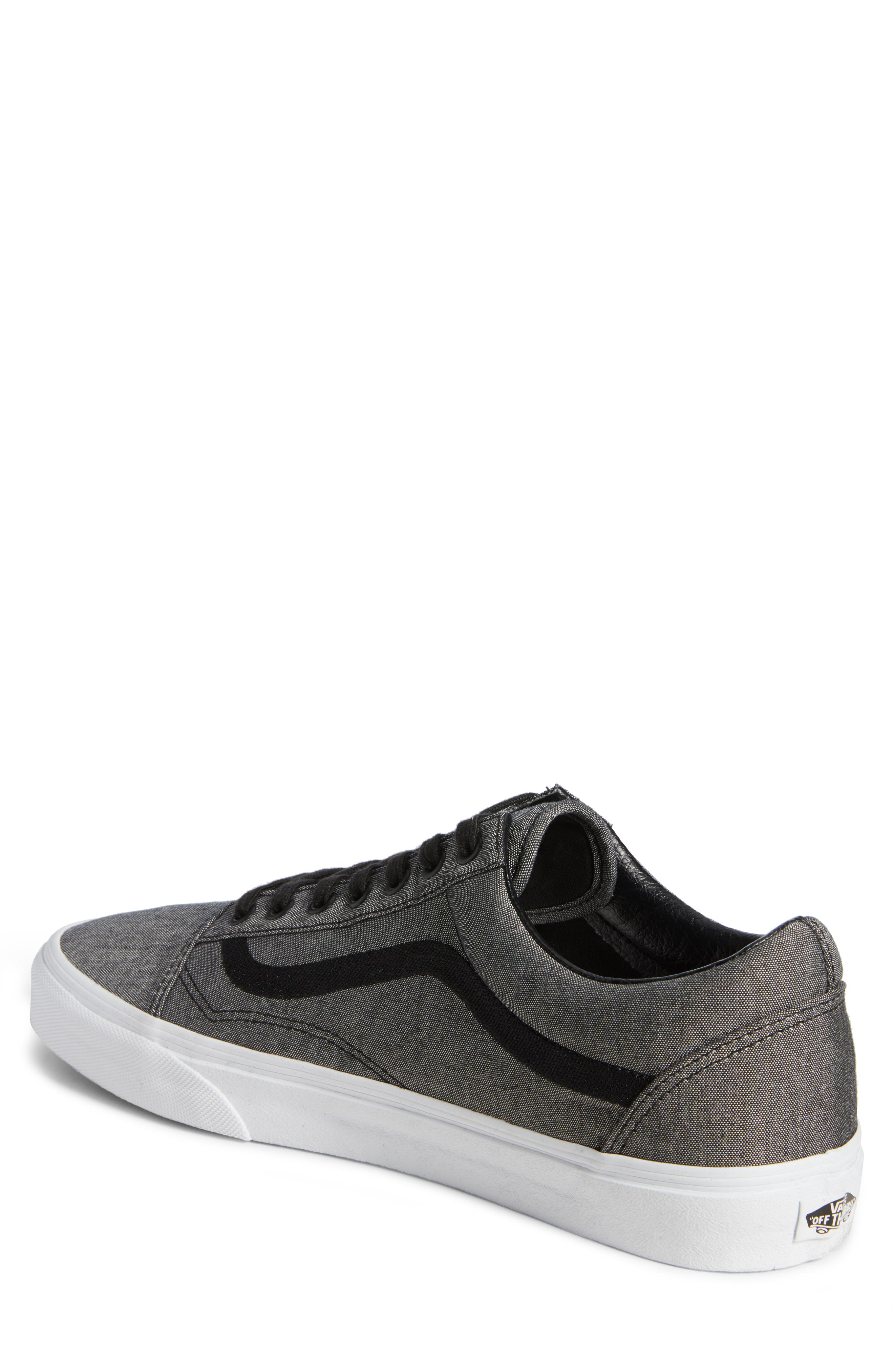 Old Skool Sneaker,                             Alternate thumbnail 2, color,                             Black/ True White/ Grey