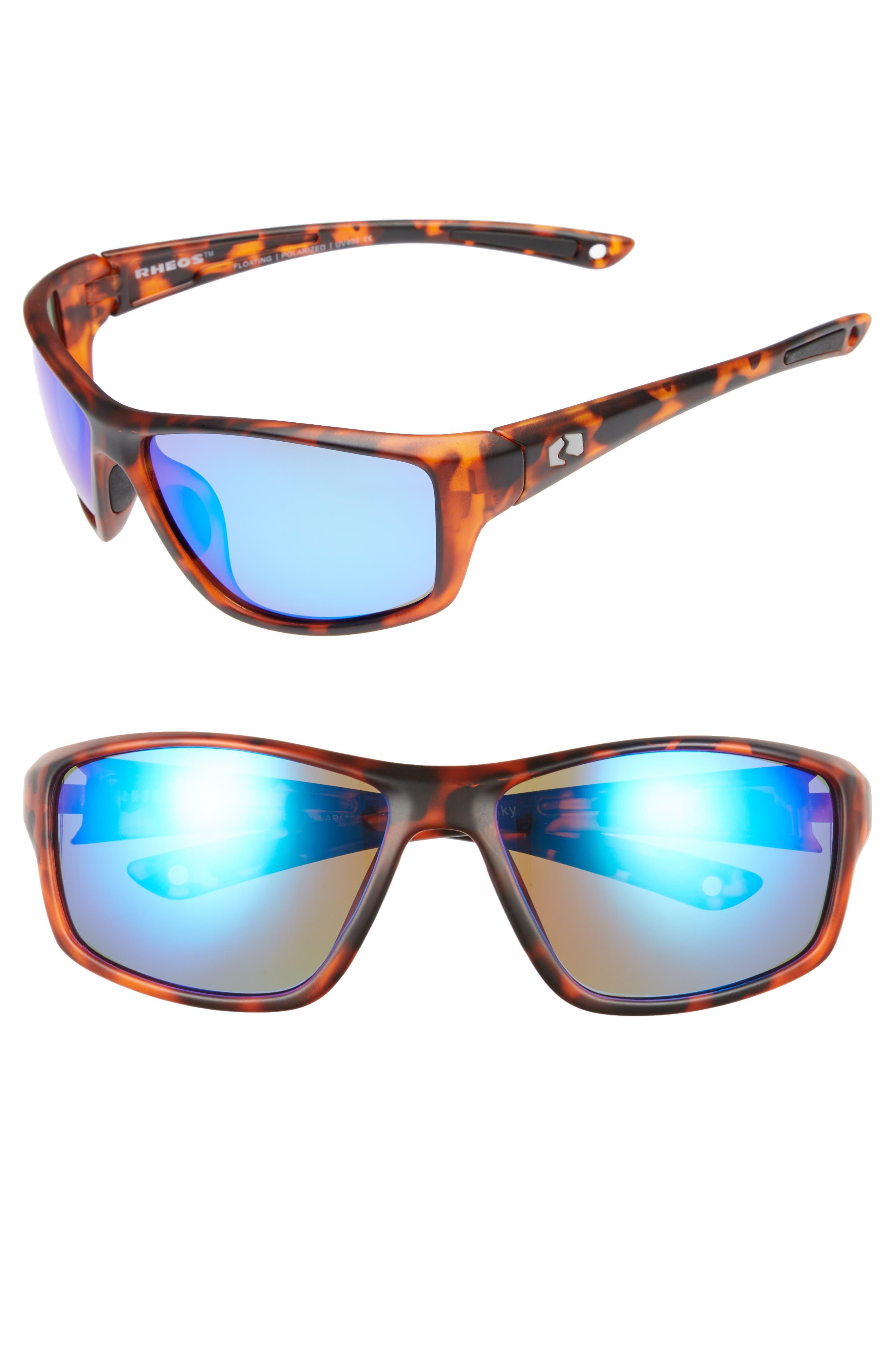 Eddies Floating 58mm Polarized Sunglasses,                             Main thumbnail 1, color,                             Tortoise / Marine