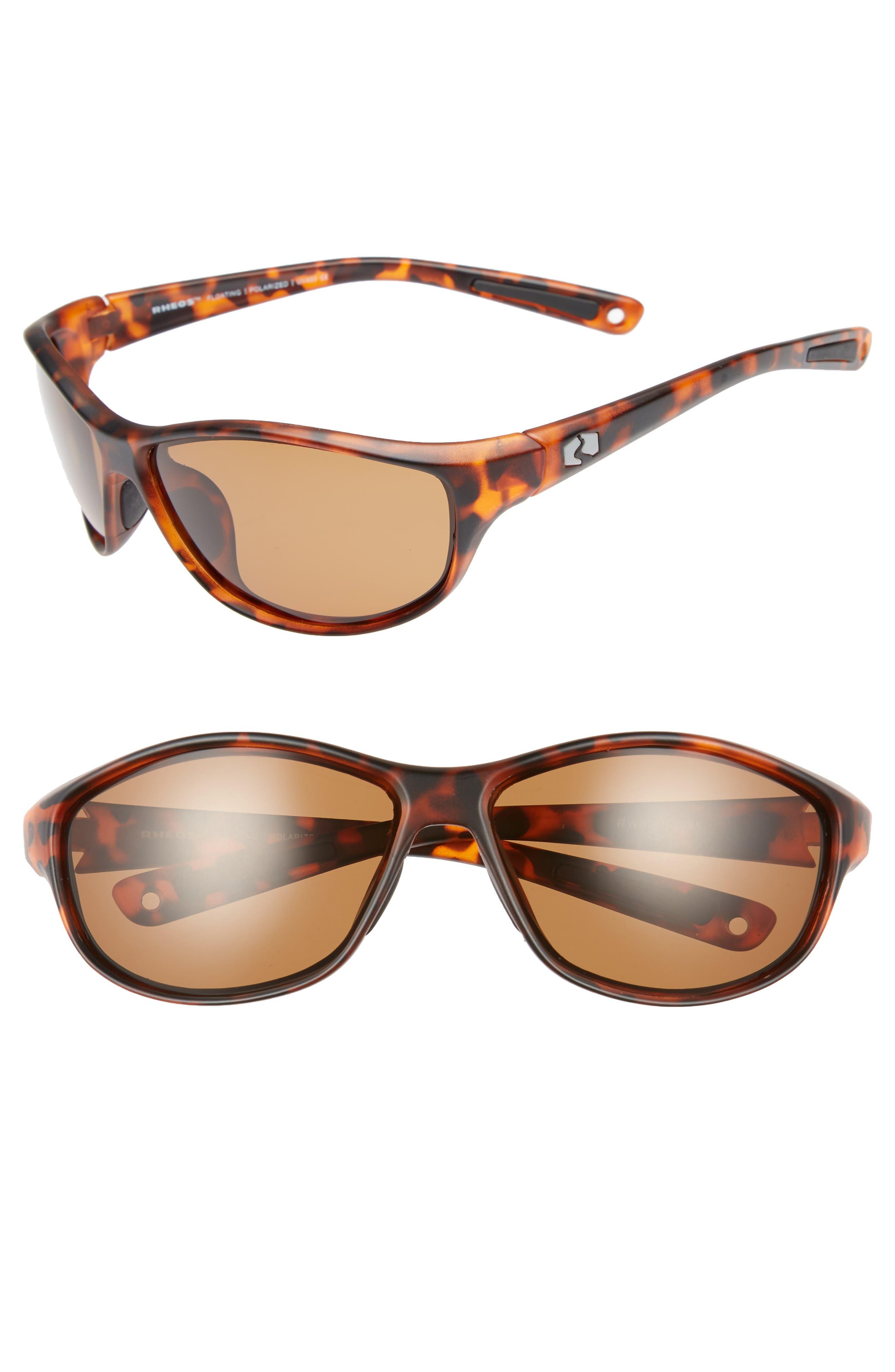 Bahias Floating 60mm Polarized Sunglasses,                             Main thumbnail 1, color,                             Tortoise / Amber
