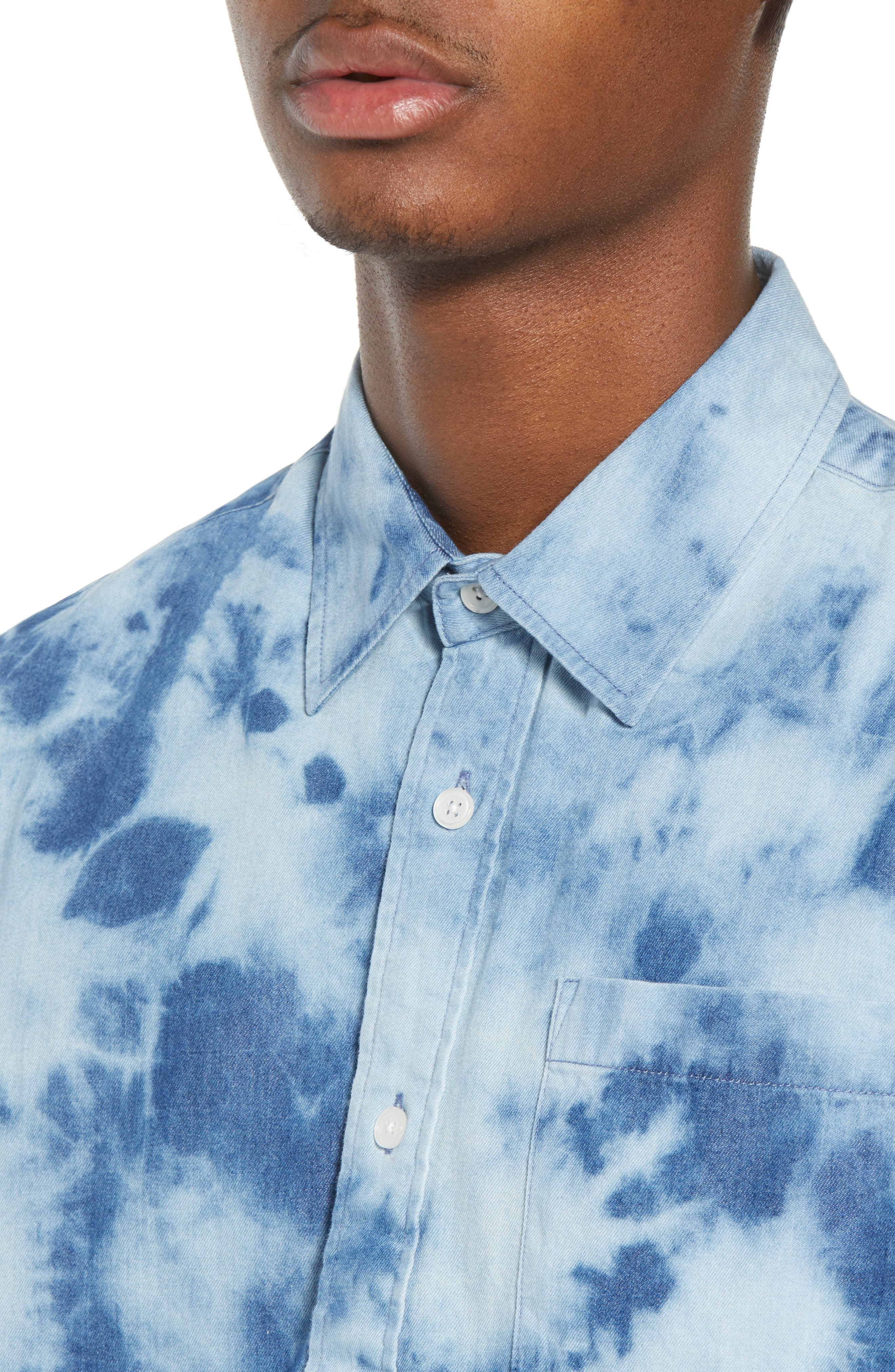 Bleacher Creature Woven Shirt,                             Alternate thumbnail 2, color,                             Blue