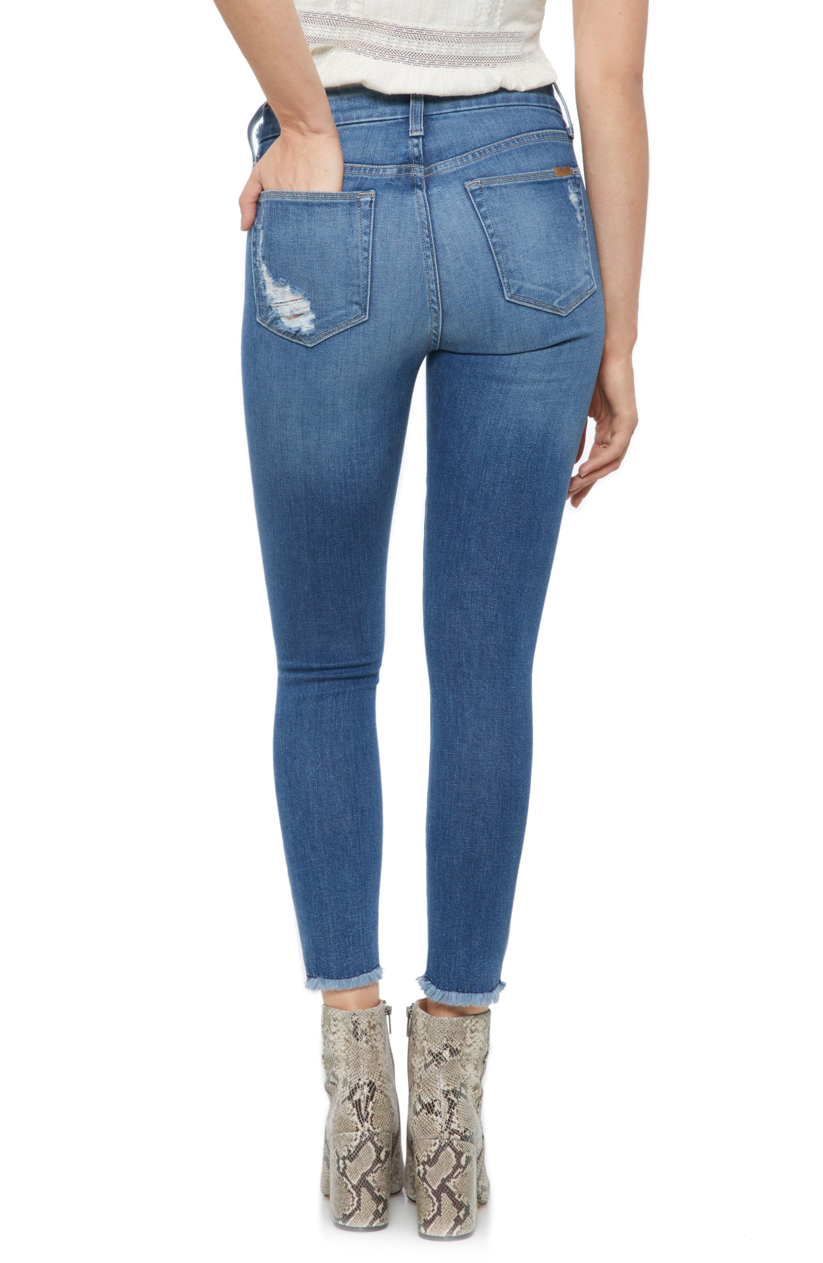 Hi Rise Honey Curvy Skinny Crop Jeans,                             Alternate thumbnail 2, color,                             Quinley