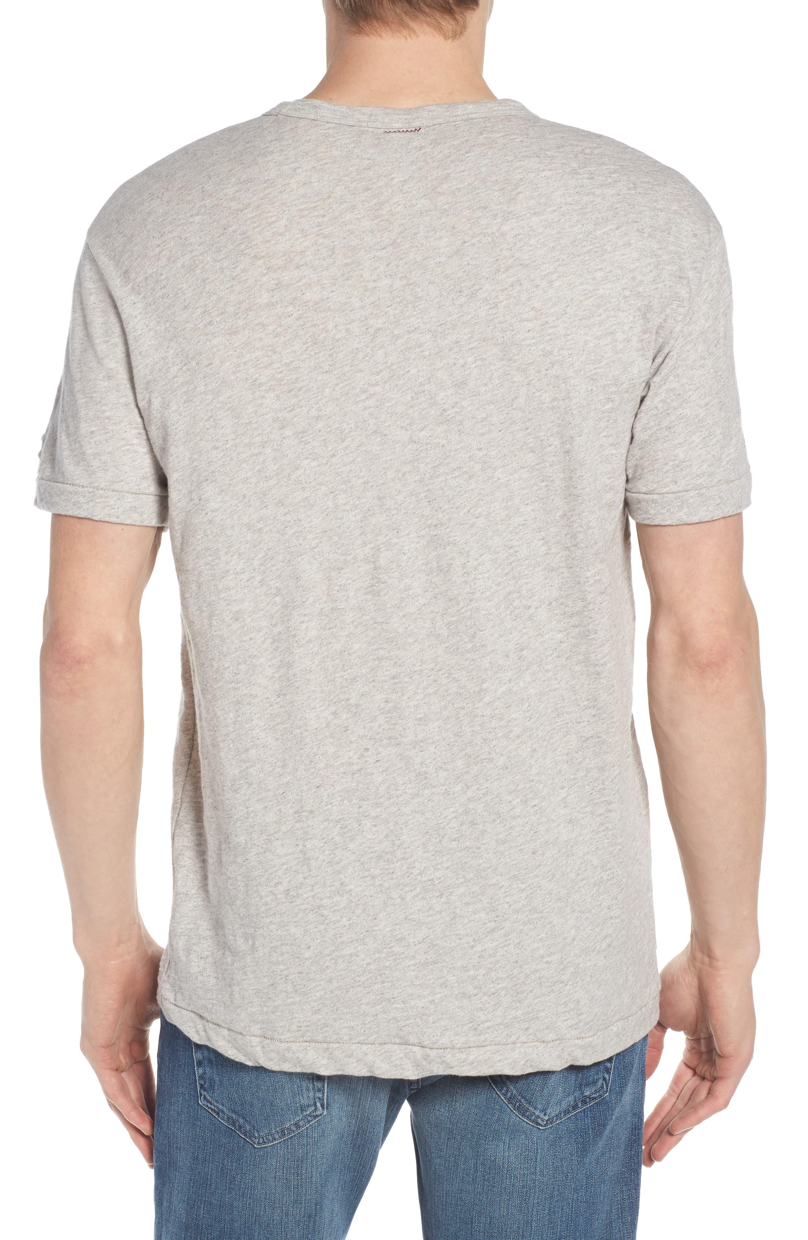 + Champion Heathered Crewneck T-Shirt,                             Alternate thumbnail 2, color,                             Antique Grey Mix
