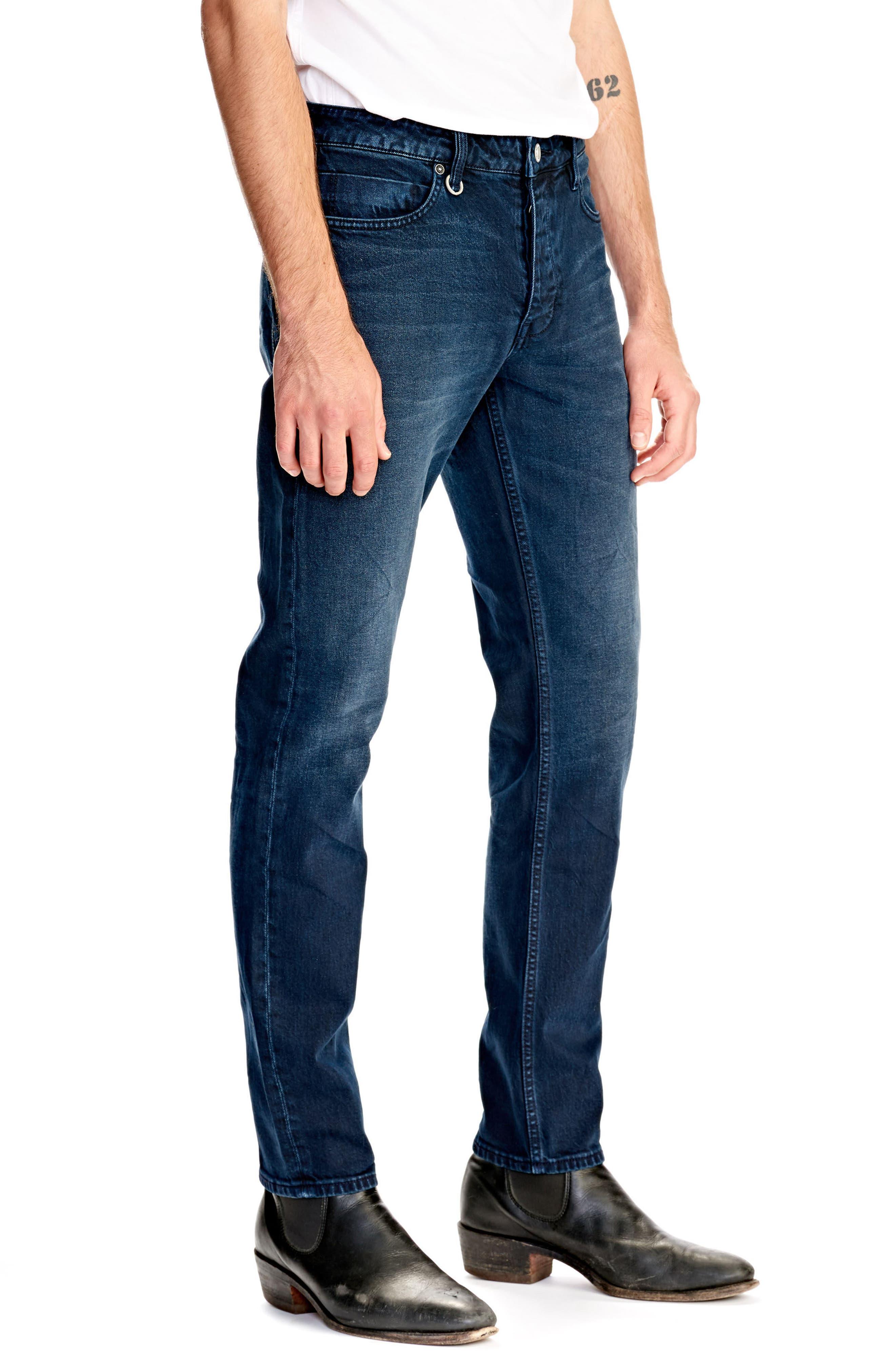 Lou Slim Fit Jeans,                             Alternate thumbnail 3, color,                             Zydeco