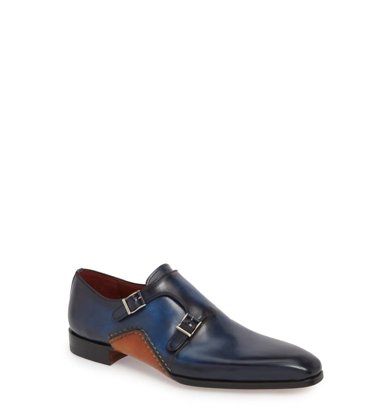 Manganni Kojo Double Buckle Monk Shoe