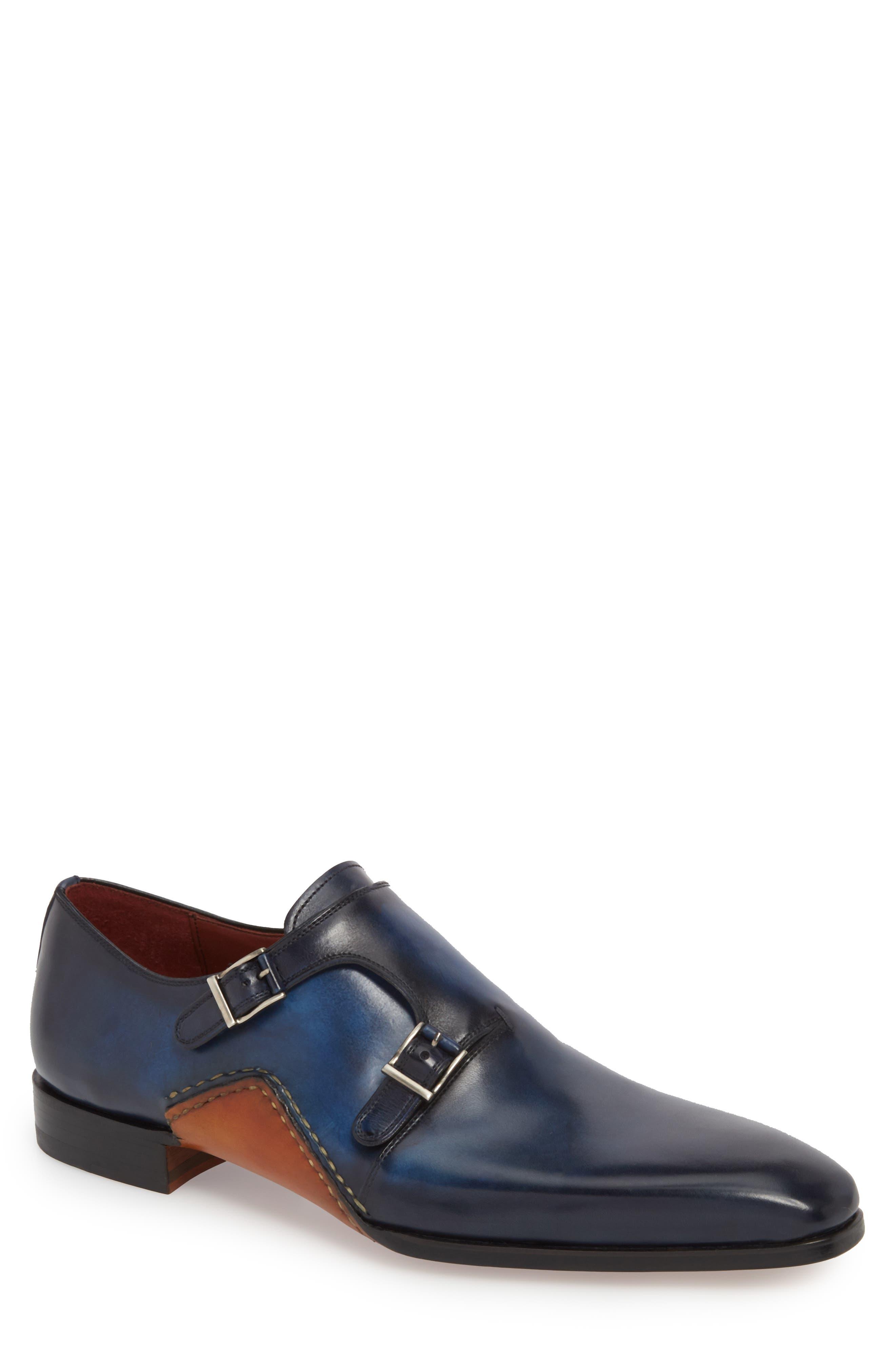 Manganni Kojo Double Buckle Monk Shoe (Men)