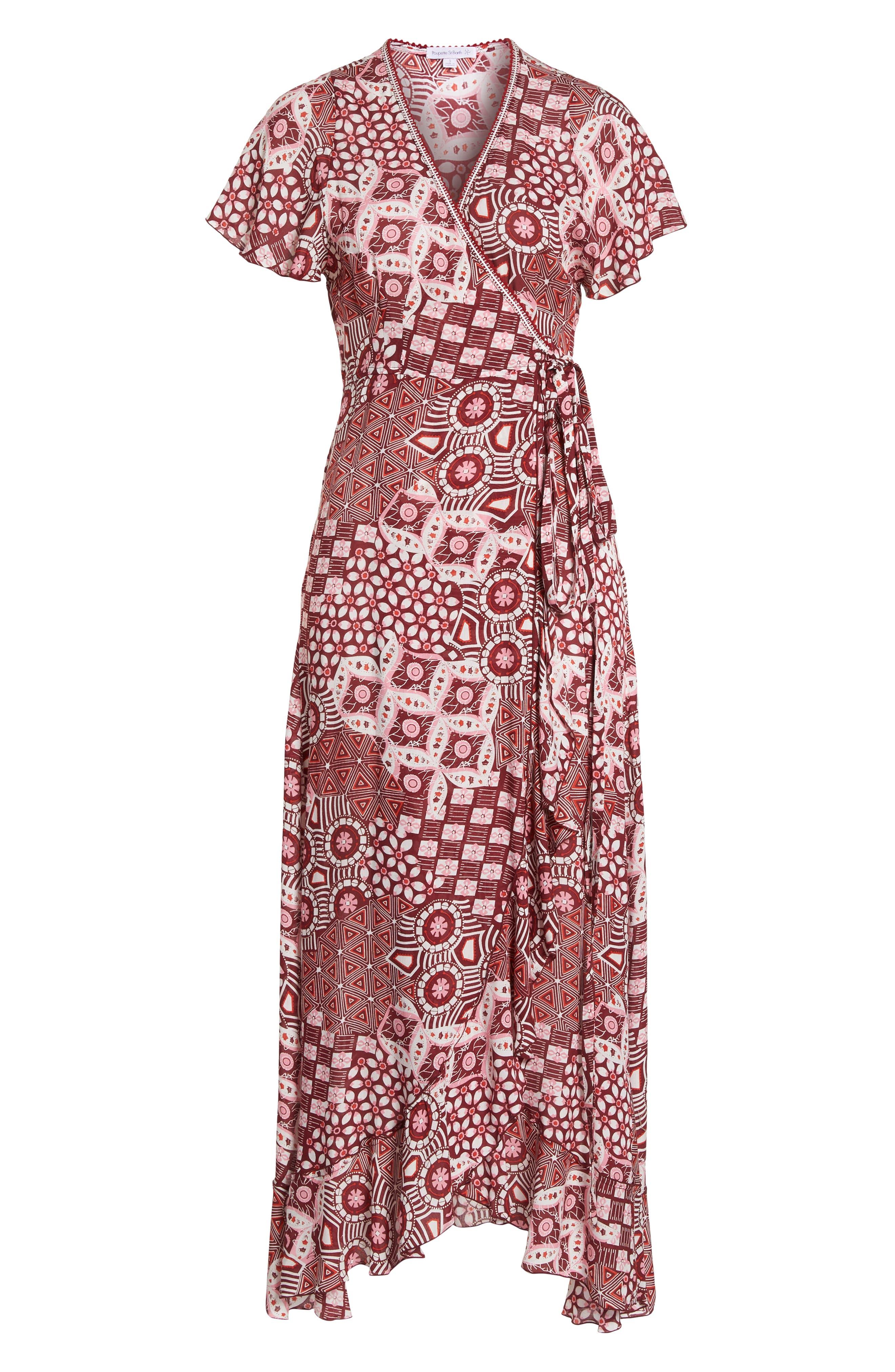 Poupette St. Barth Joe Cover-Up Maxi Dress,                             Alternate thumbnail 6, color,                             Pink Mali