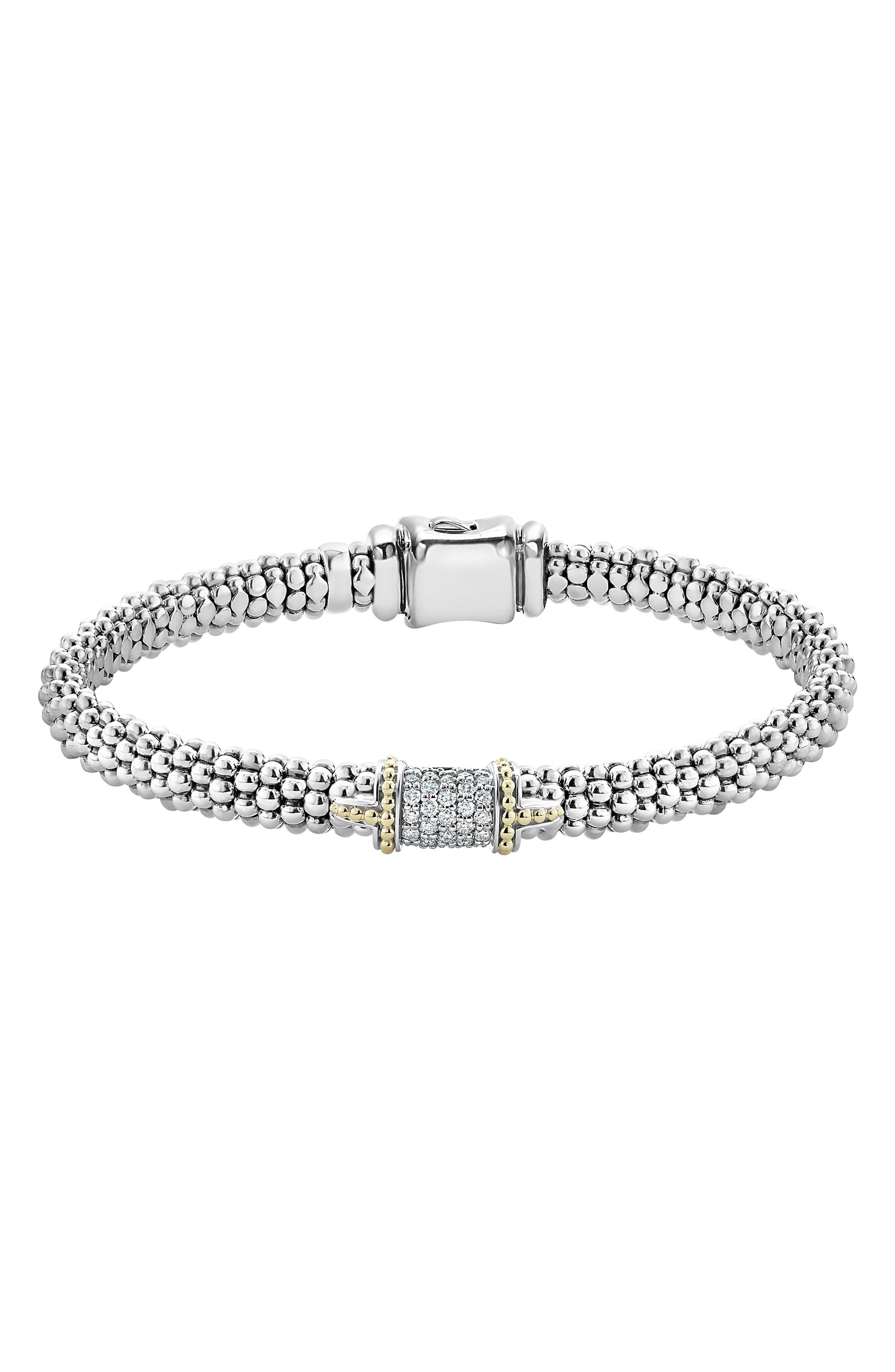 Alternate Image 1 Selected - LAGOS Diamond Caviar Bracelet