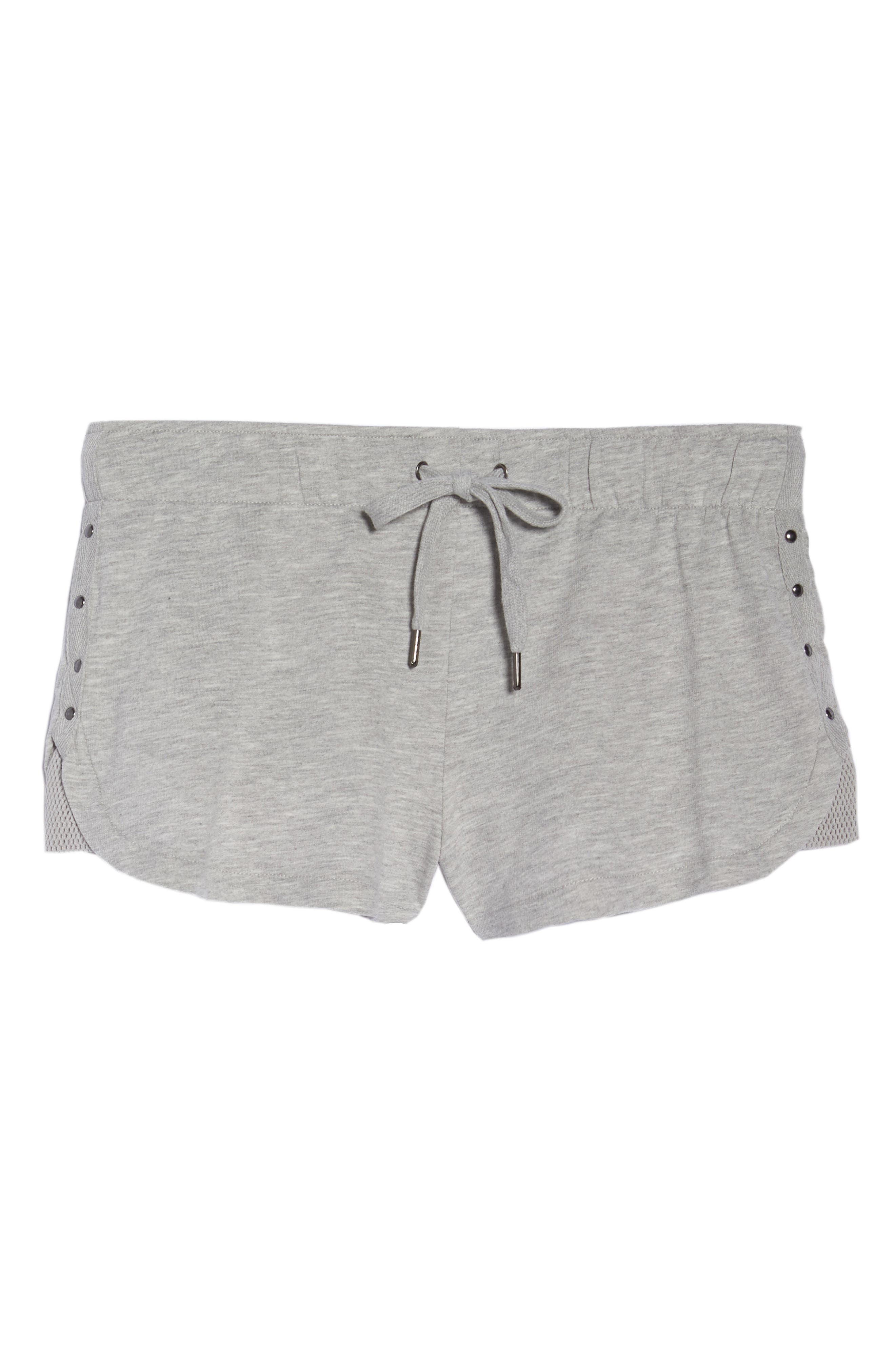 Pajama Shorts,                             Alternate thumbnail 7, color,                             H Grey