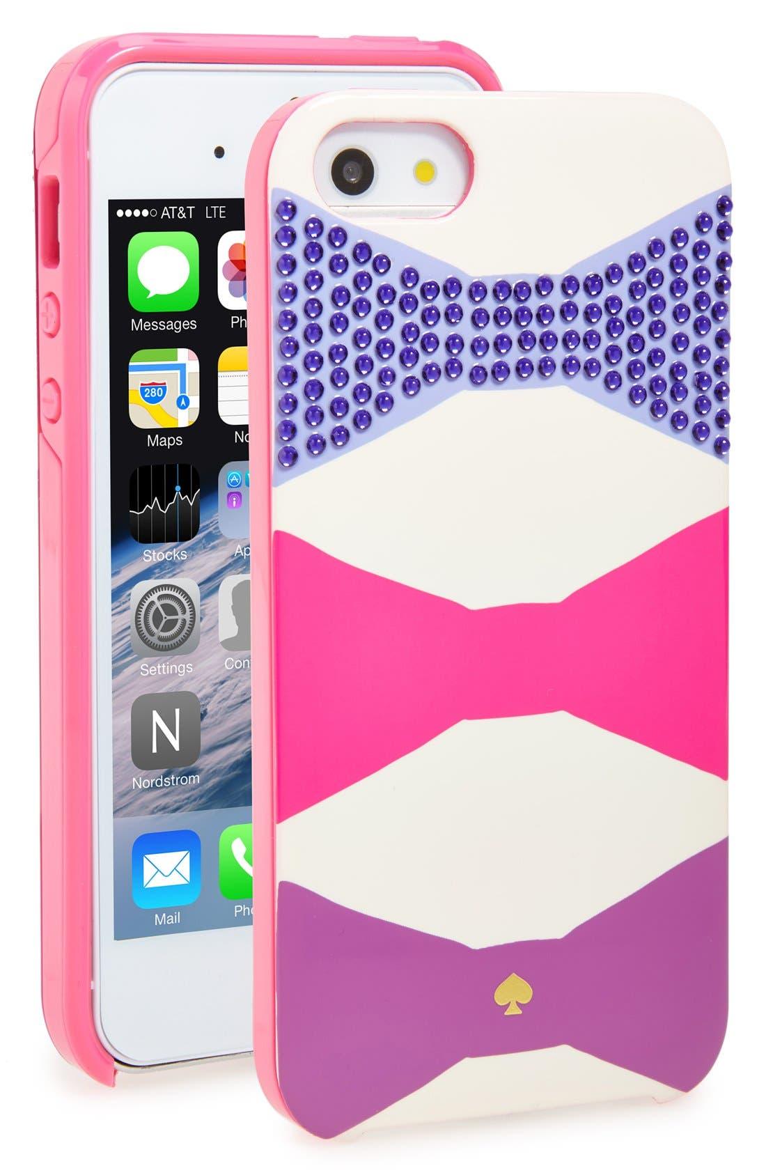 Main Image - kate spade new york 'oversized bow' iPhone 5 & 5s case
