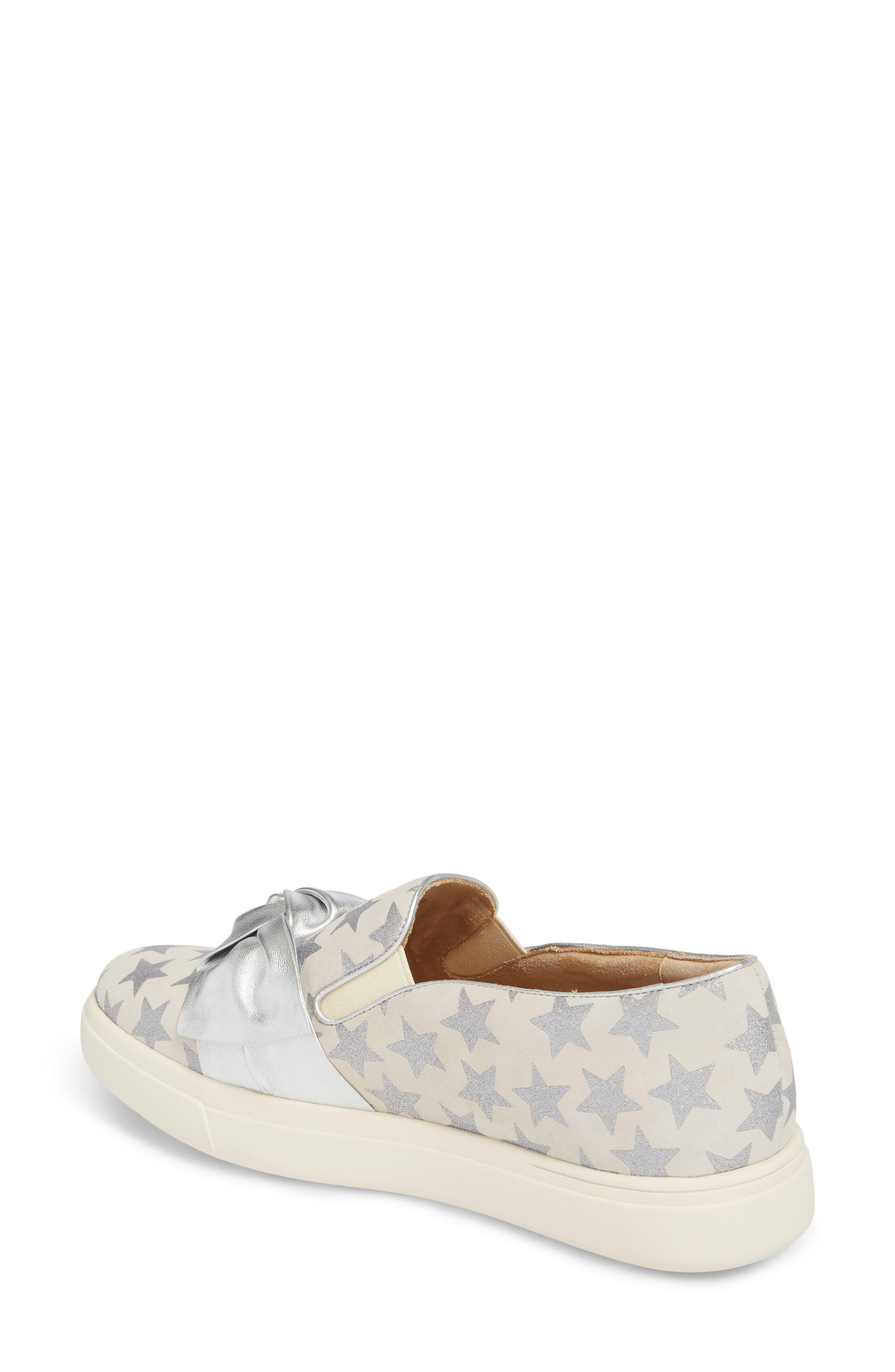 Odelet Slip-On Sneaker,                             Alternate thumbnail 2, color,                             Beige/ Silver Suede