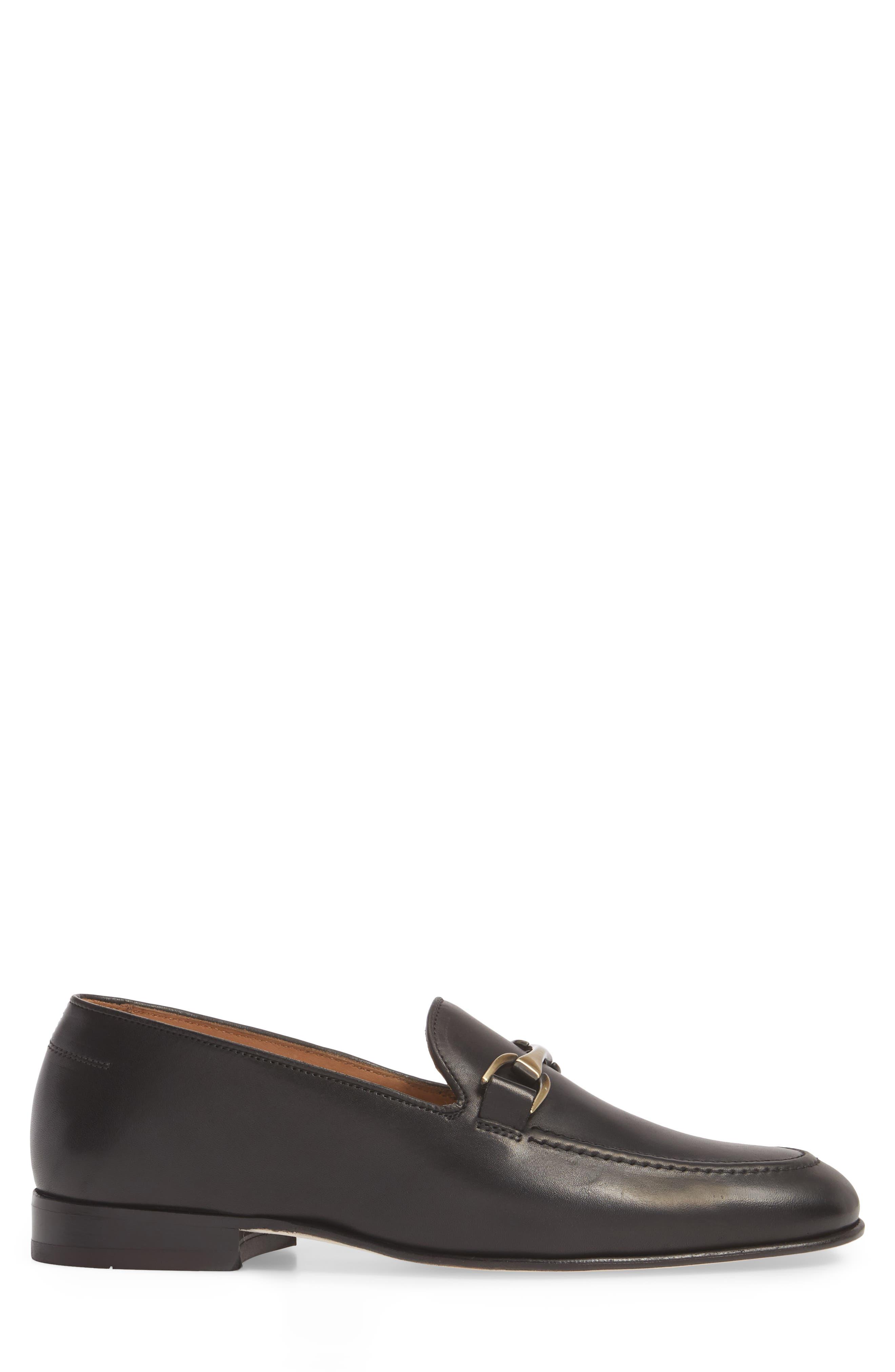 'Borcelo' Bit Loafer,                             Alternate thumbnail 3, color,                             Black Leather