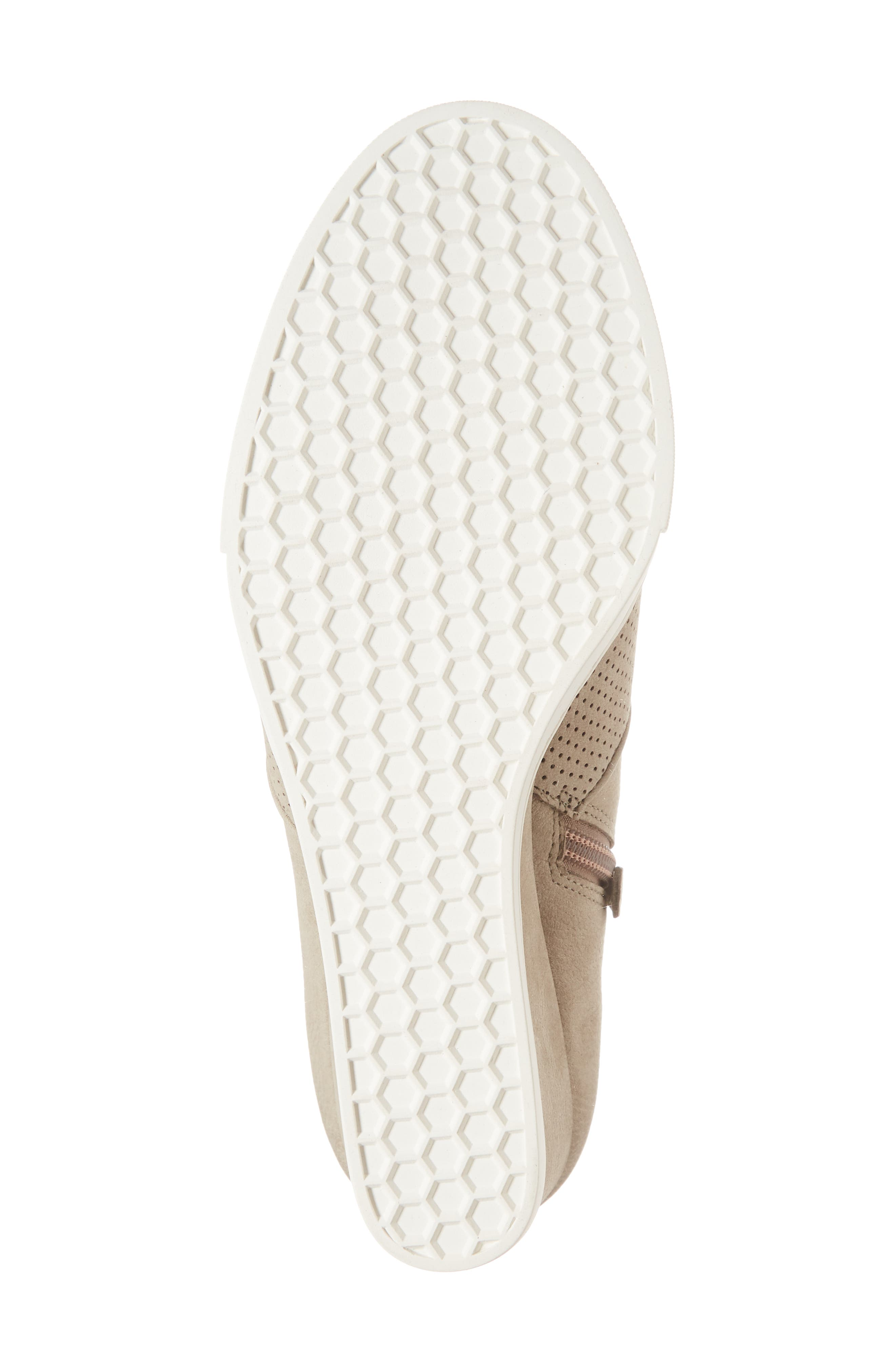 Aiden Wedge Sneaker,                             Alternate thumbnail 6, color,                             Taupe Perforated Leather