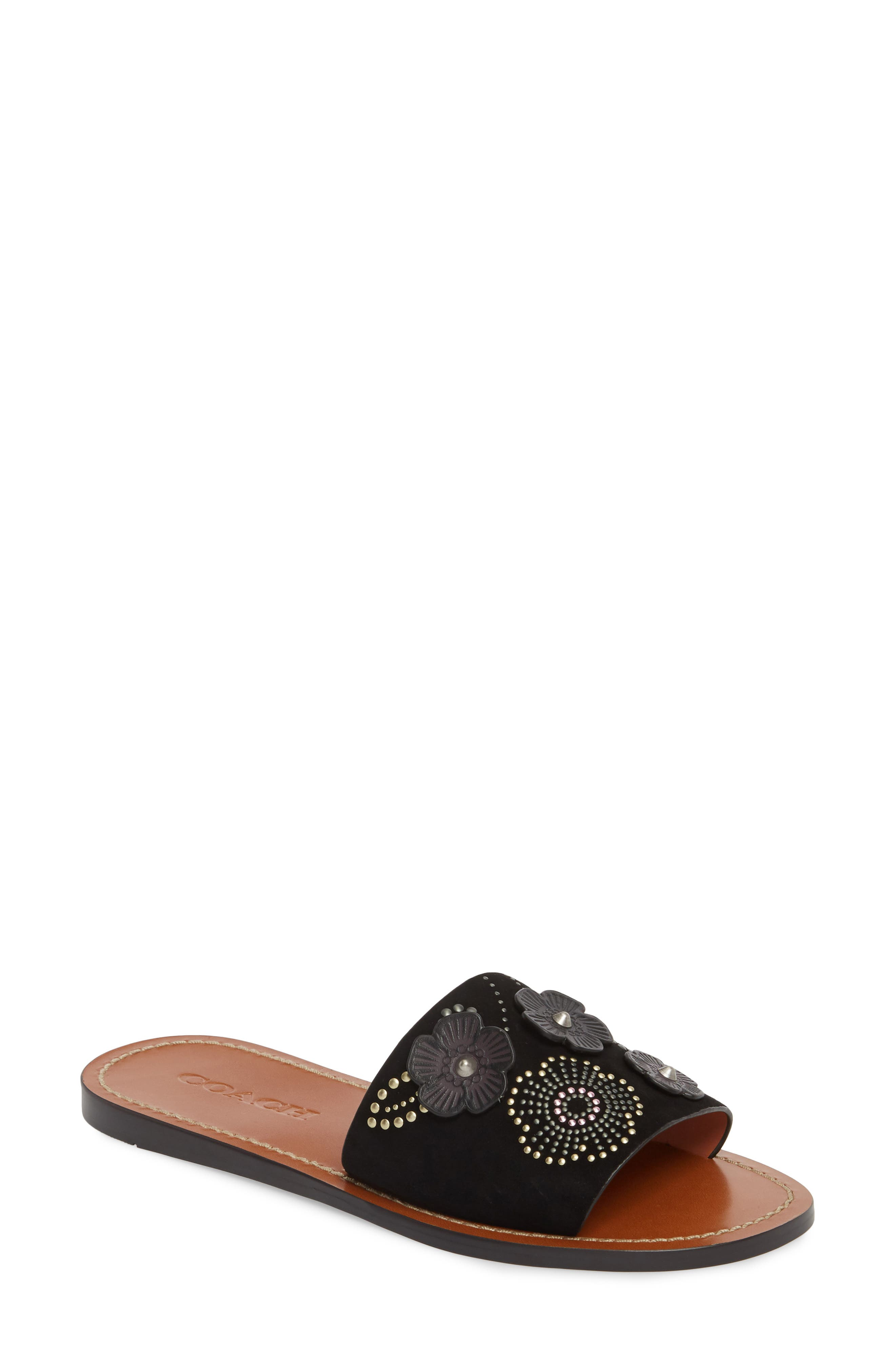 COACH Tea Rose Slide Sandal (Women)