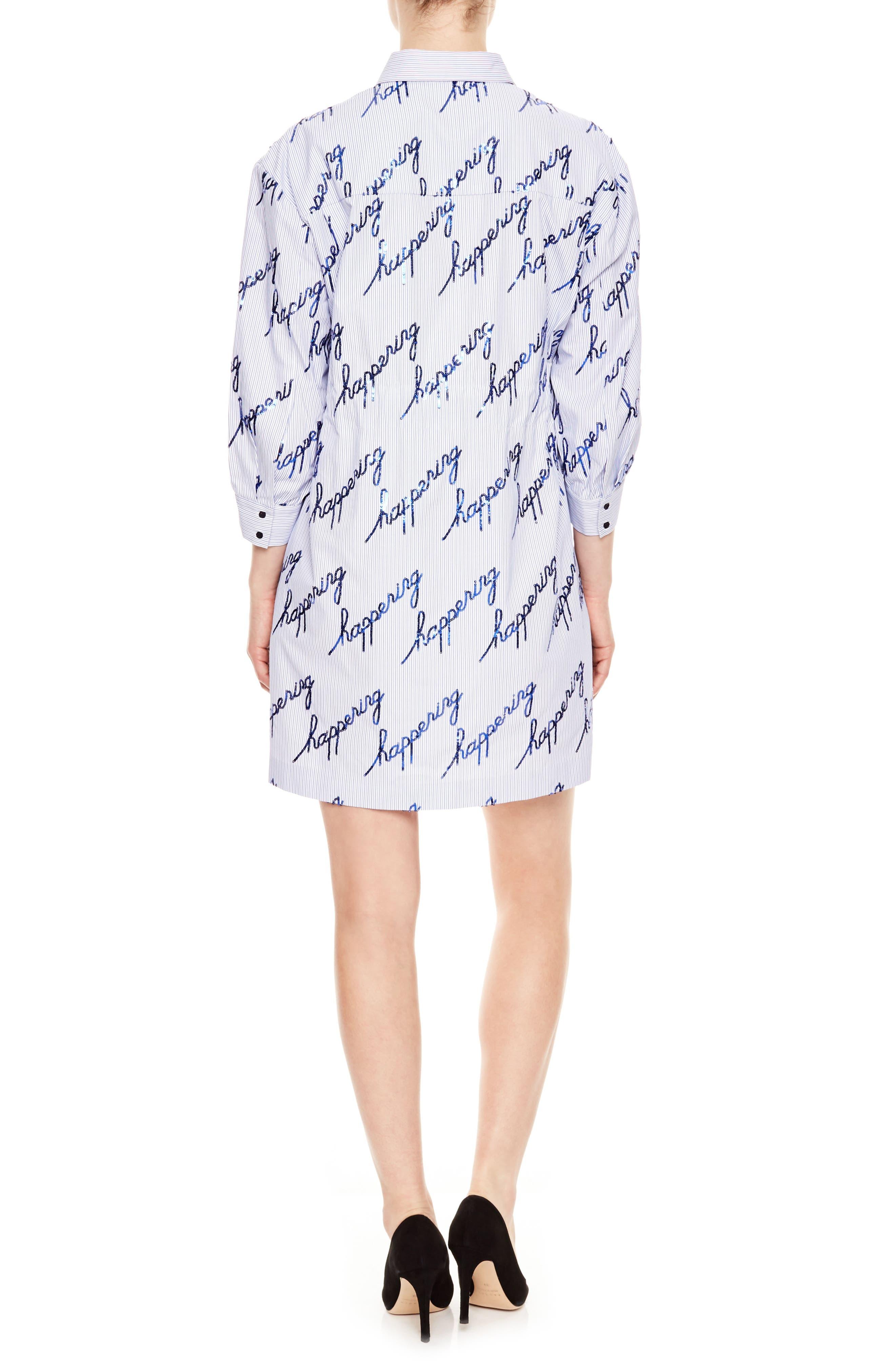 Bleu Ciel Pinstripe Happening Dress,                             Alternate thumbnail 2, color,                             Bleu Ciel