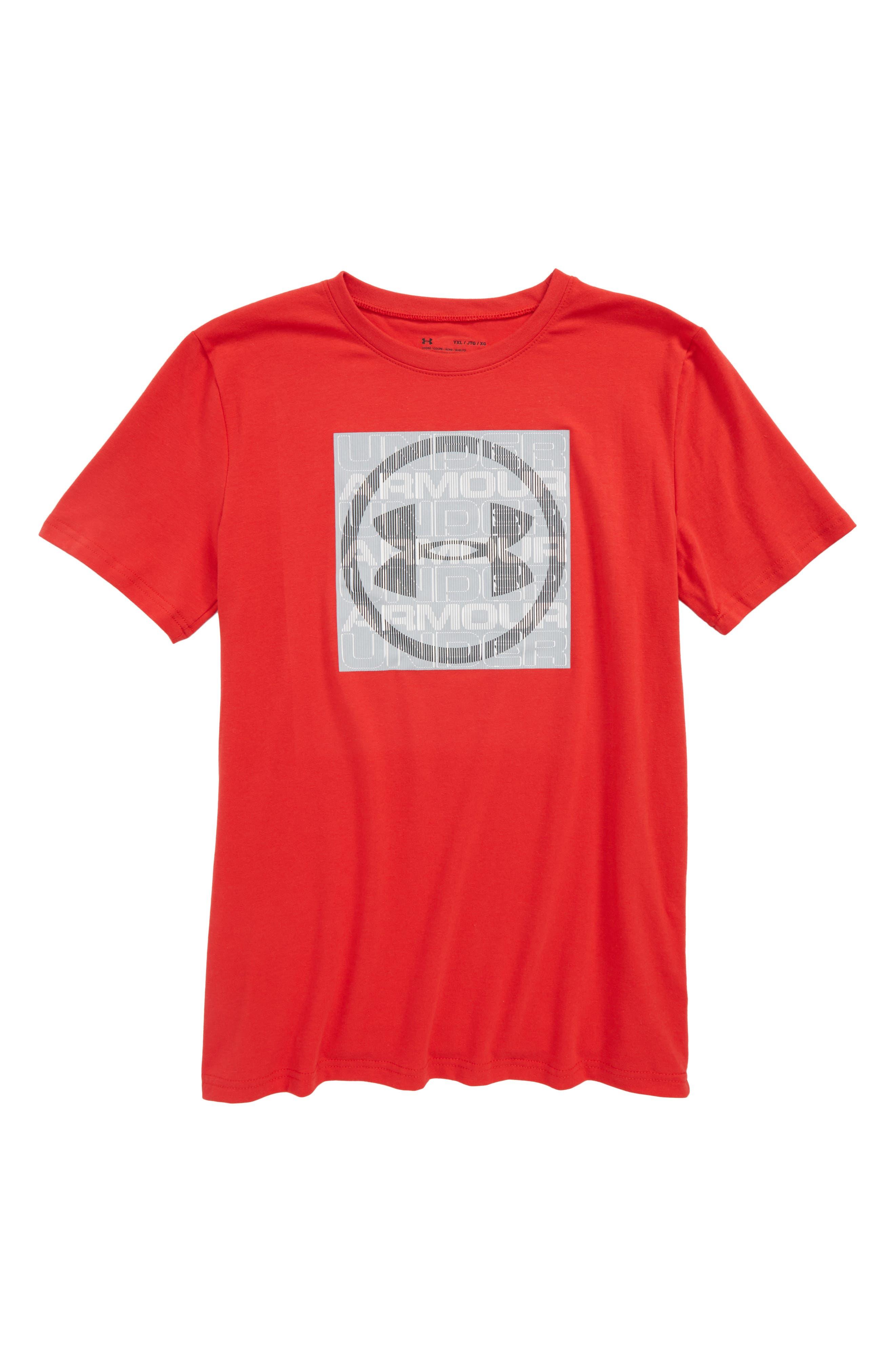 Visualogo T-Shirt,                         Main,                         color, Red/ Black