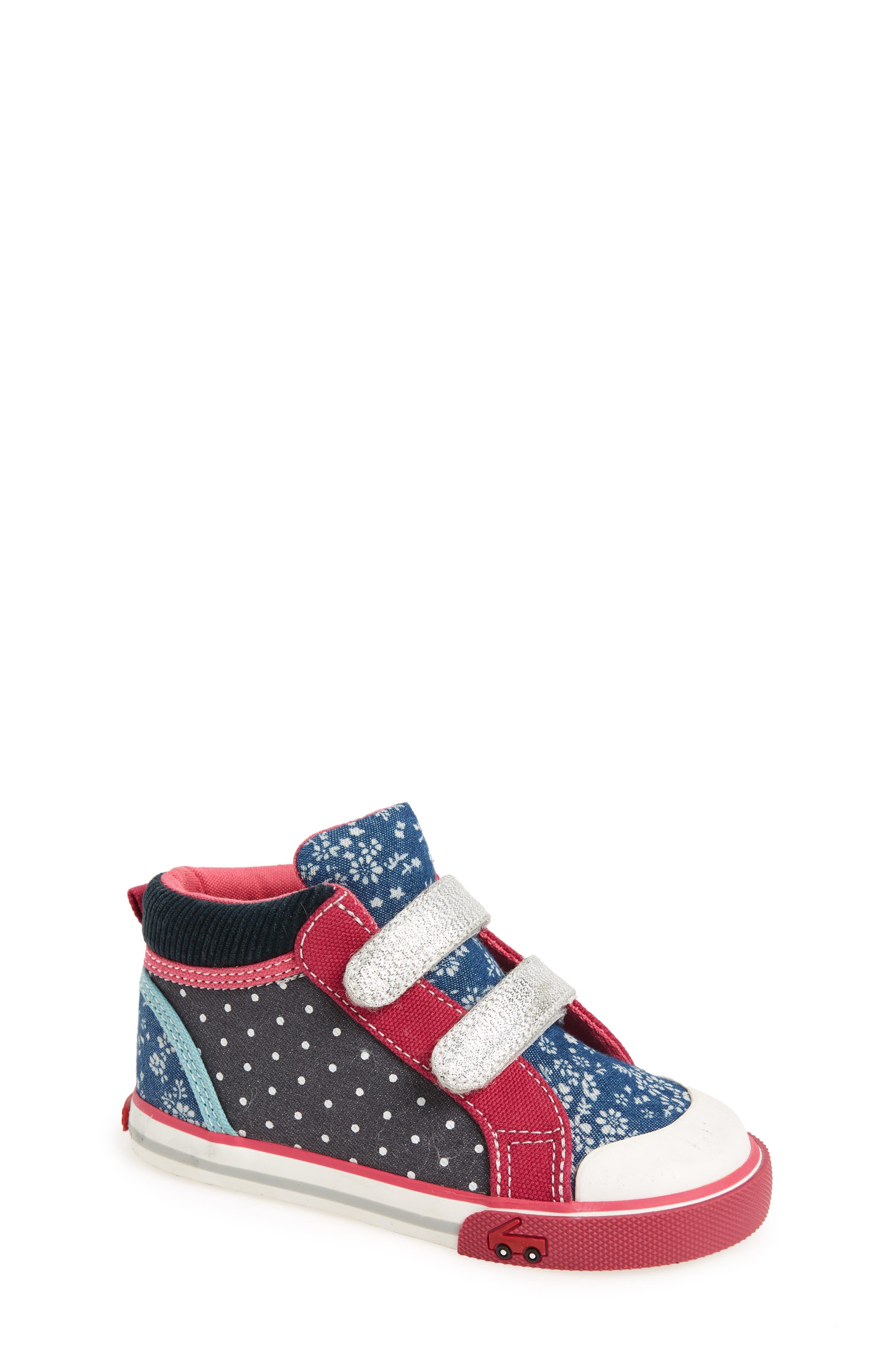 Kya Sneaker,                         Main,                         color, Navy Corduroy/ Multi