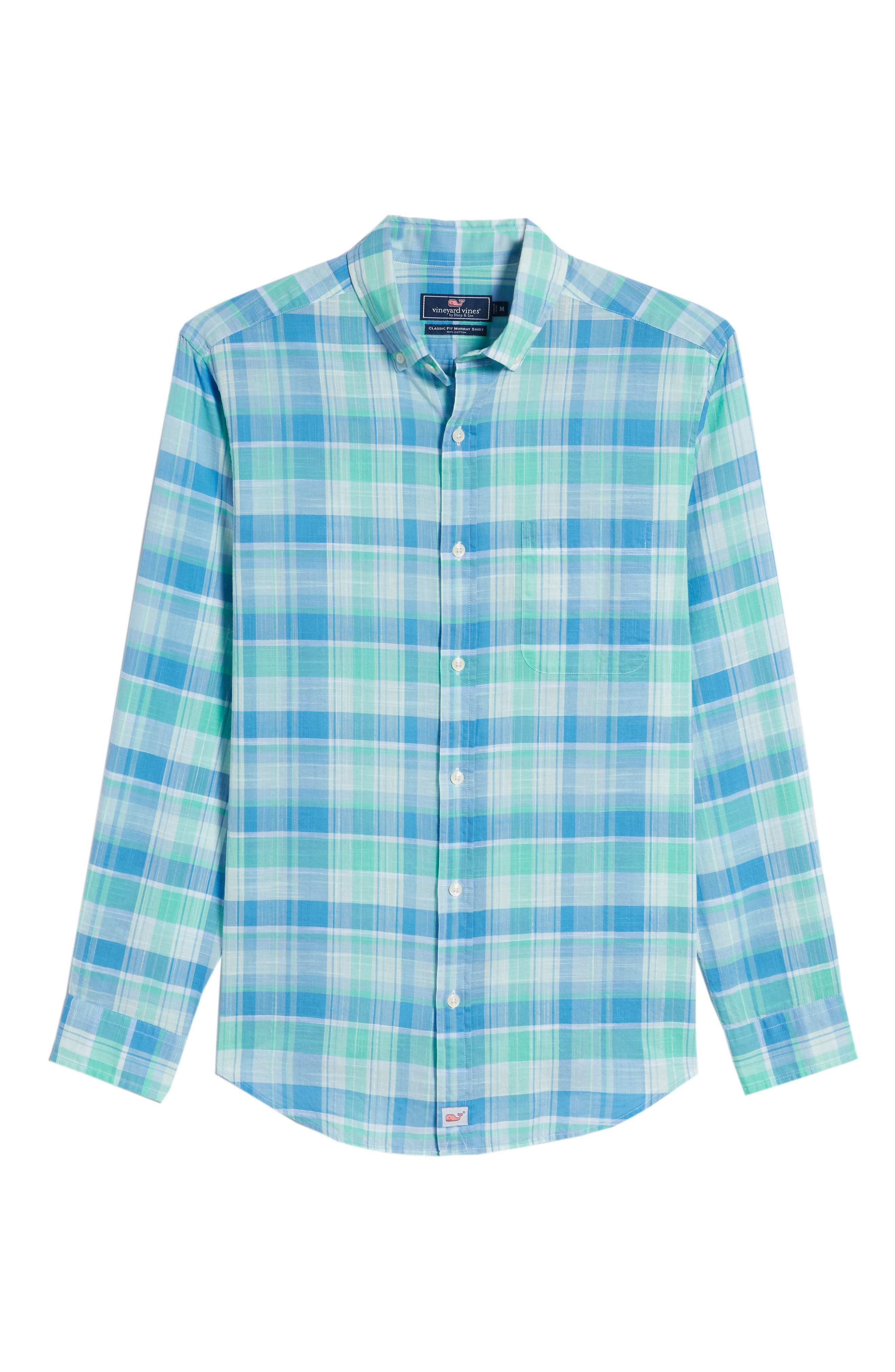 Homer Pond Murray Classic Fit Plaid Sport Shirt,                             Alternate thumbnail 6, color,                             Antigua Green
