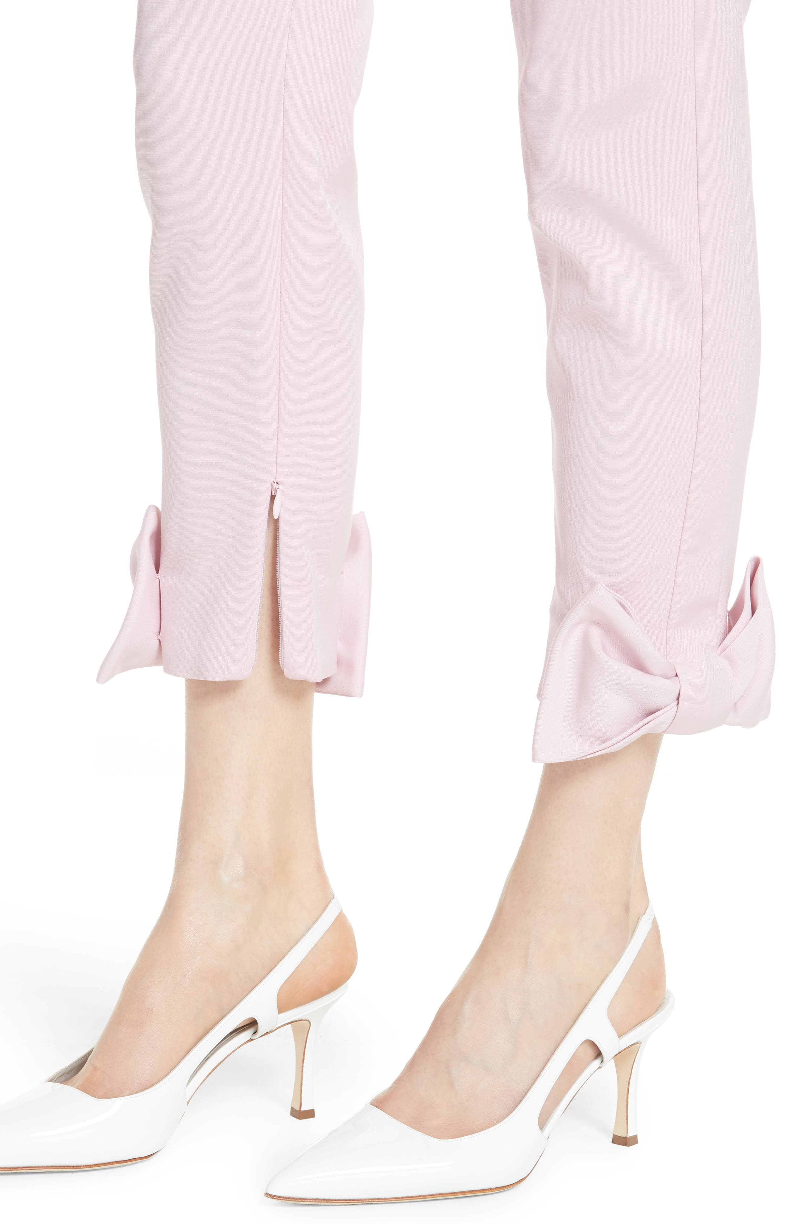Toplyt Bow Cuff Ankle Pants,                             Alternate thumbnail 4, color,                             Lilac