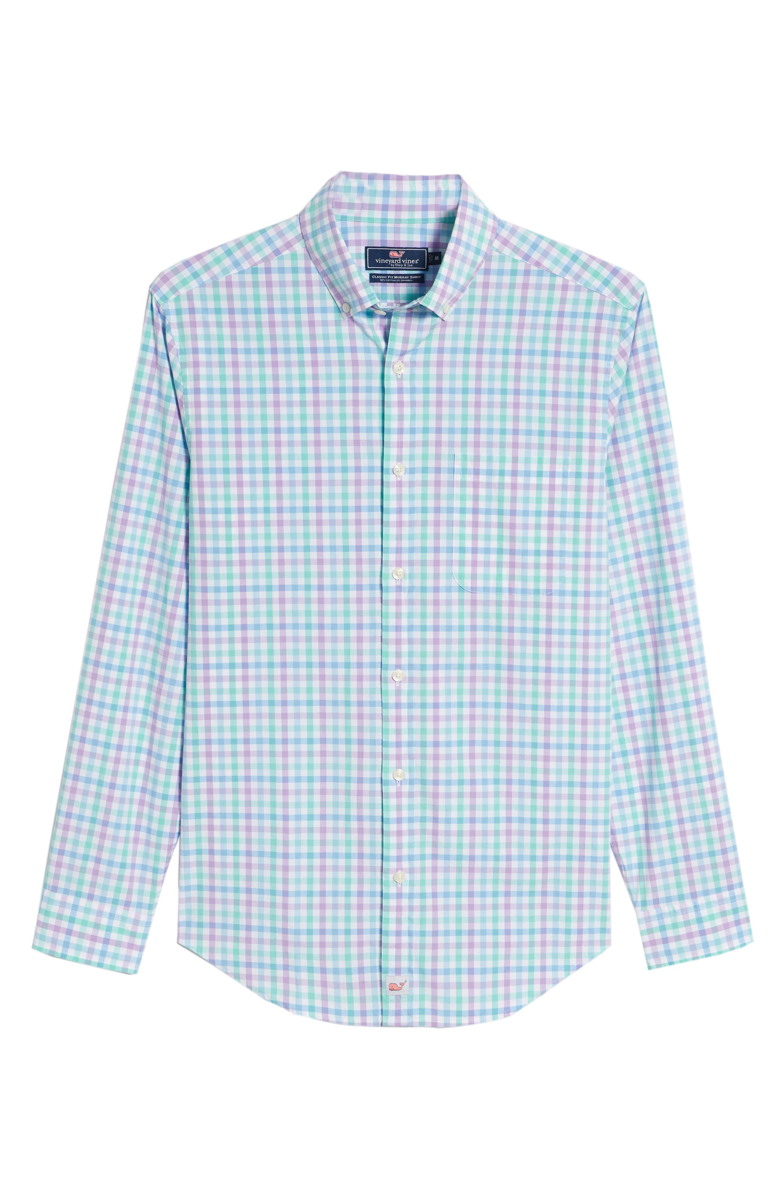 Murray Classic Fit Stretch Check Sport Shirt,                             Alternate thumbnail 6, color,                             Sea Urchin