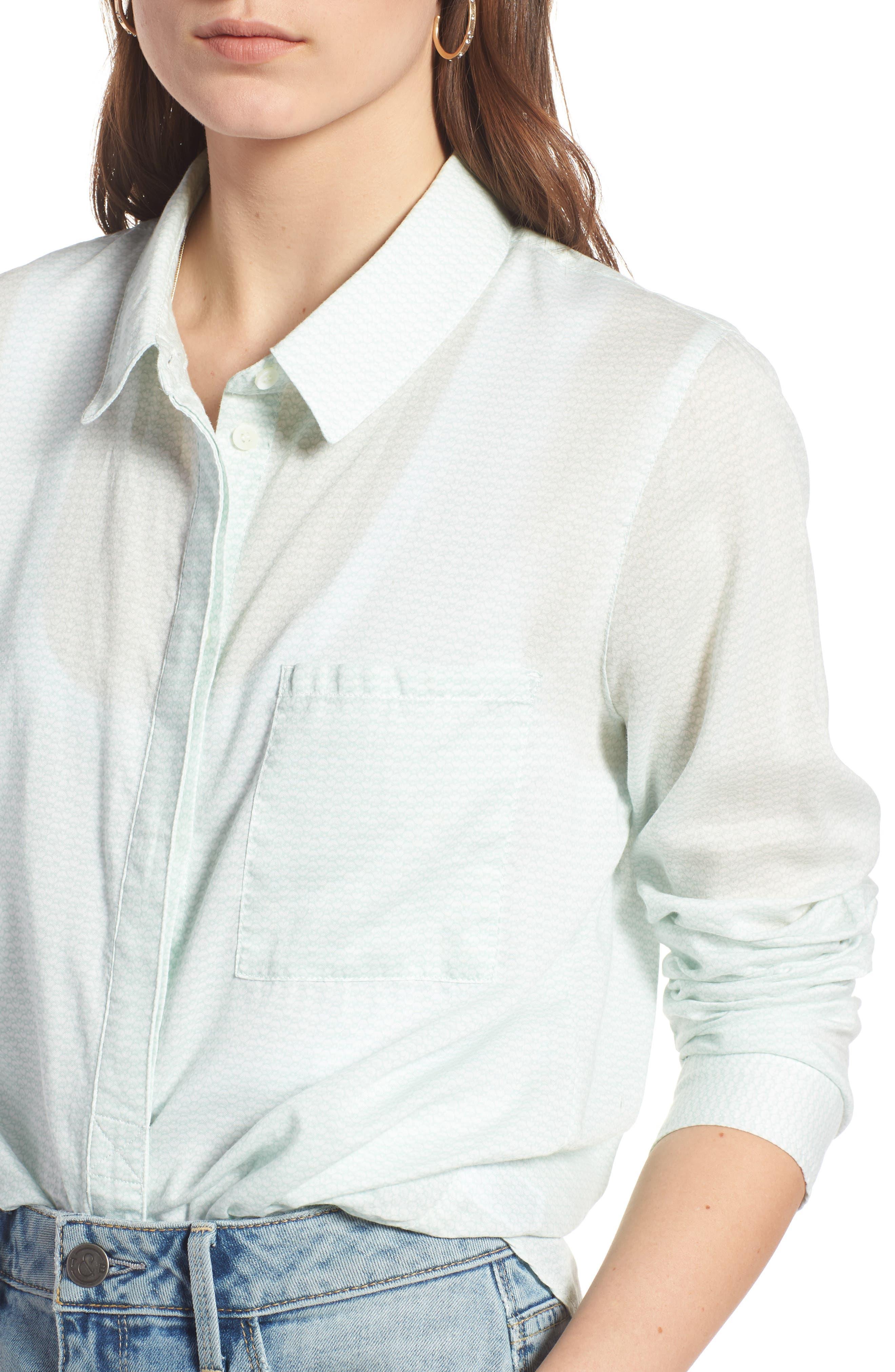 Alternate Image 4  - Treasure & Bond Drapey Classic Shirt