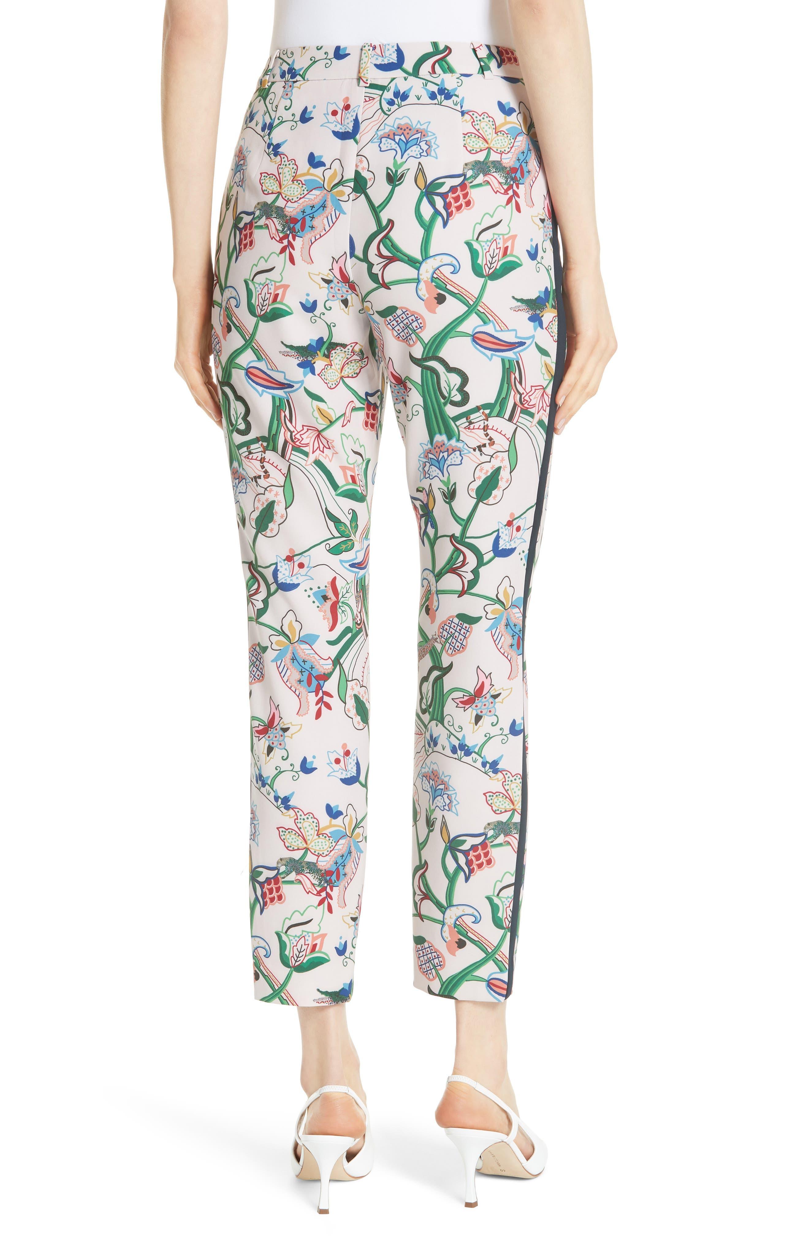 Tachi Jungle Print Trousers,                             Alternate thumbnail 2, color,                             Dusky Pink