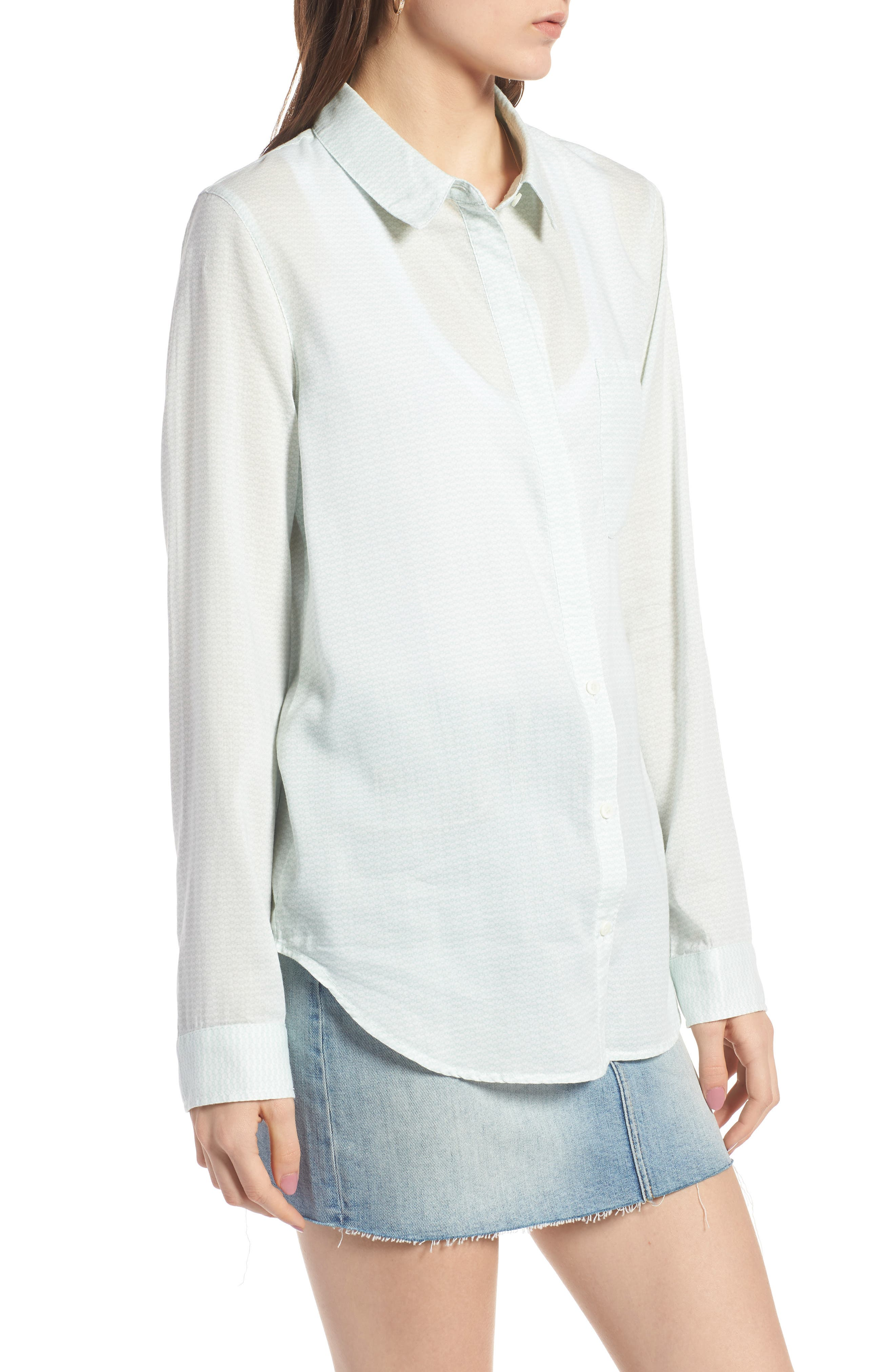 Alternate Image 3  - Treasure & Bond Drapey Classic Shirt